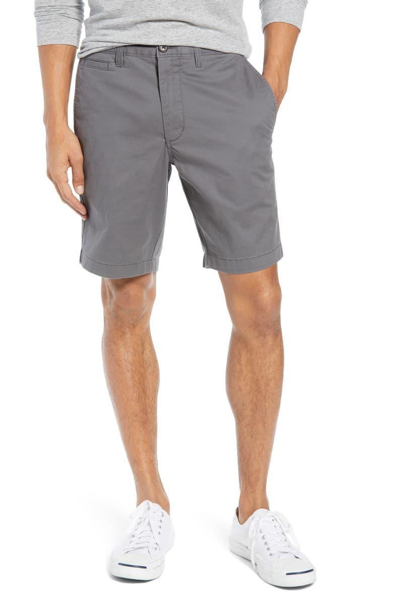 ecfda431a2 1901 Ballard Slim Fit Stretch Chino 9-Inch Shorts, Main, color, GREY