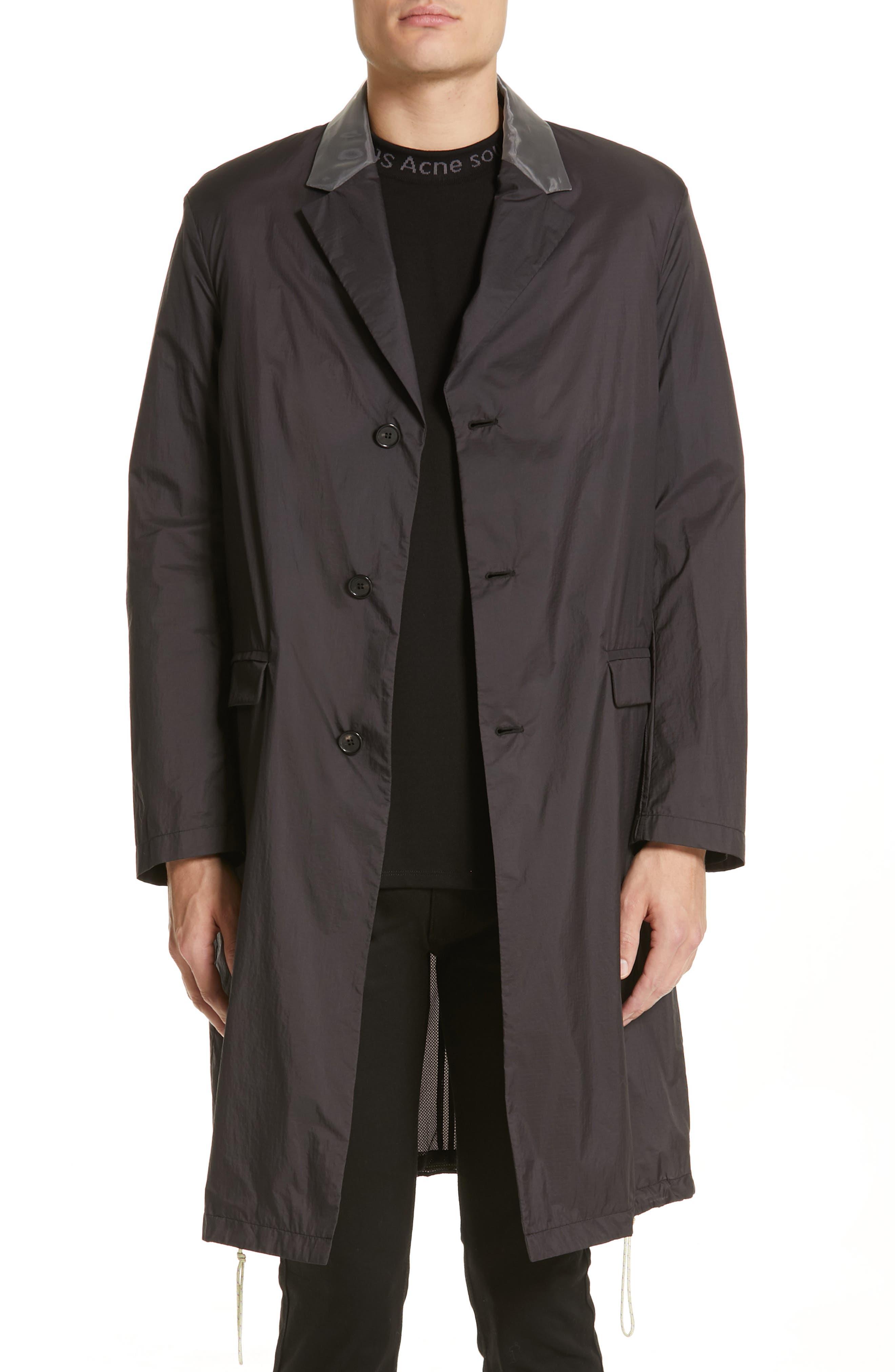 Sagan Long Jacket,                             Main thumbnail 1, color,                             BLACK