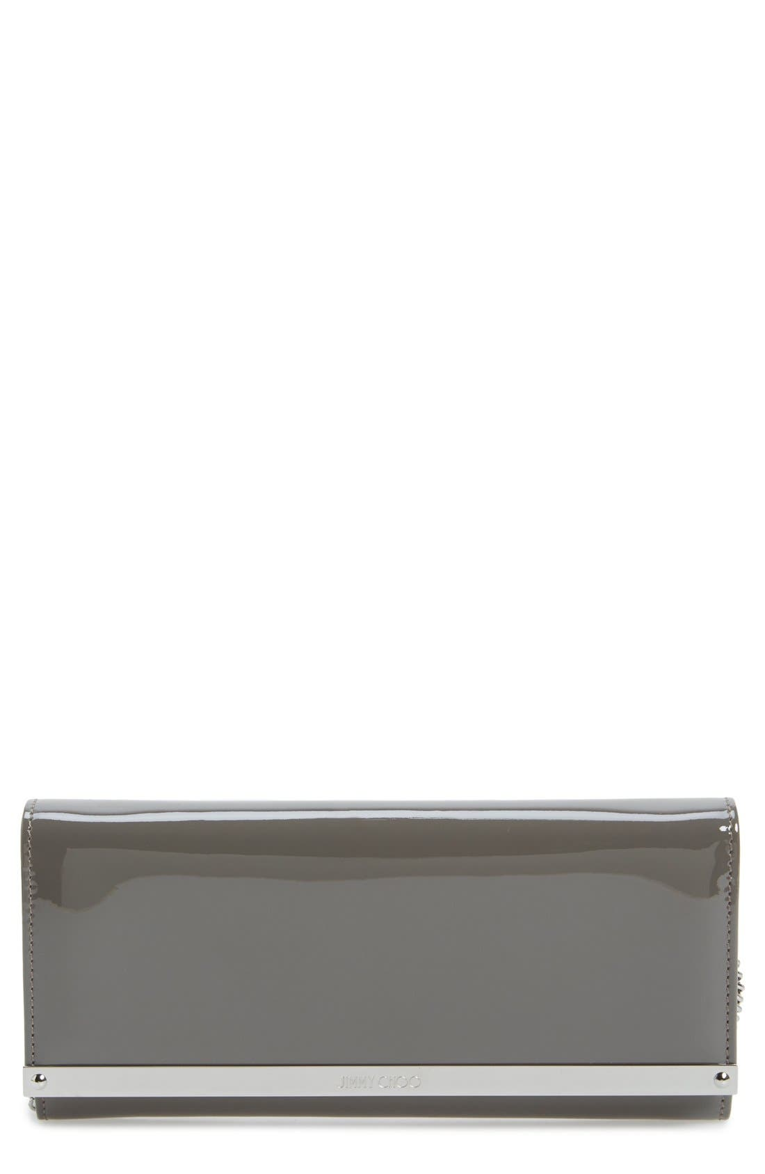 'Milla' Patent Leather Wallet on a Chain,                             Main thumbnail 3, color,