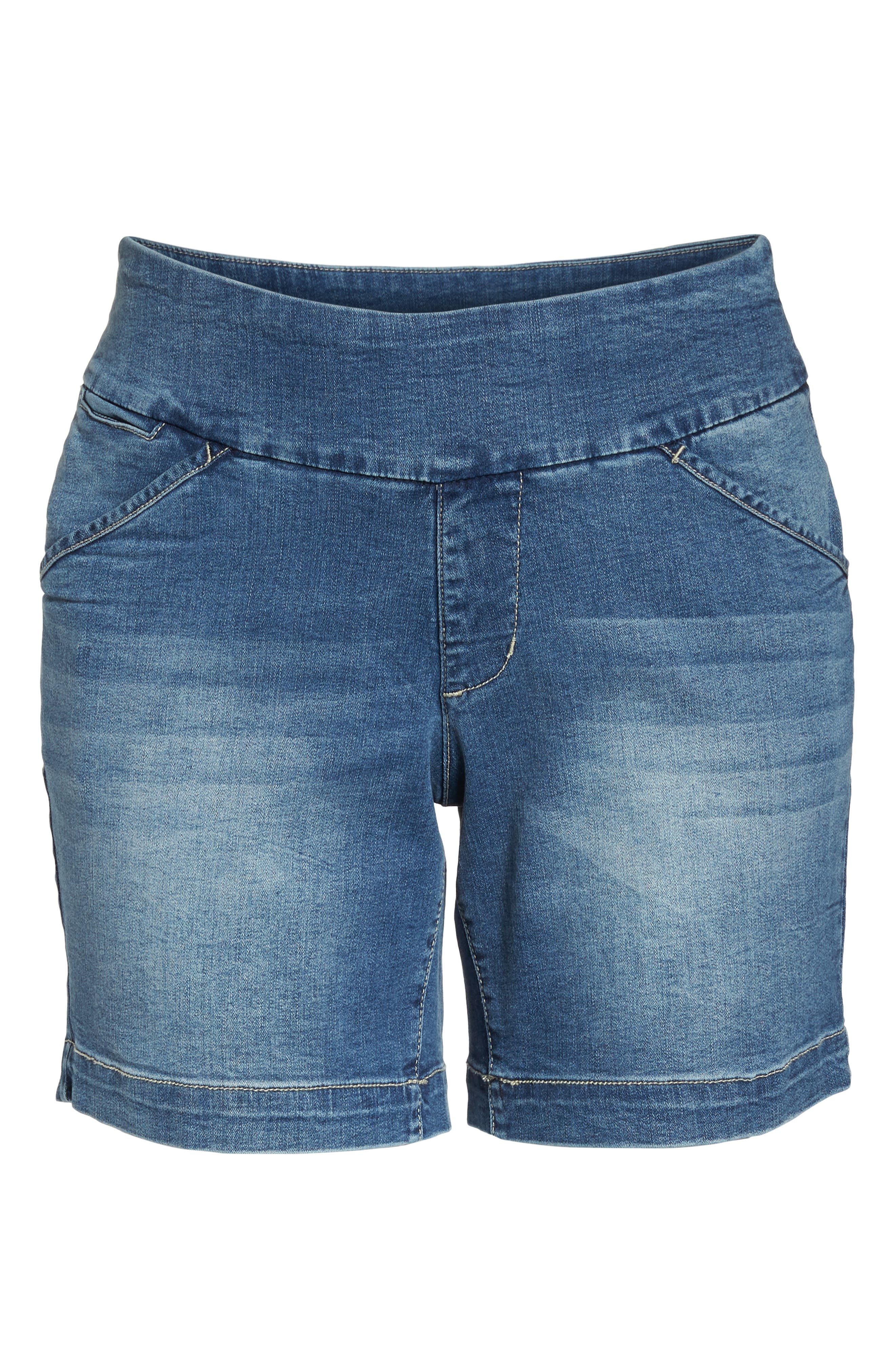 JAG JEANS,                             Ainsley Pull-On Stretch Denim Shorts,                             Alternate thumbnail 7, color,                             420