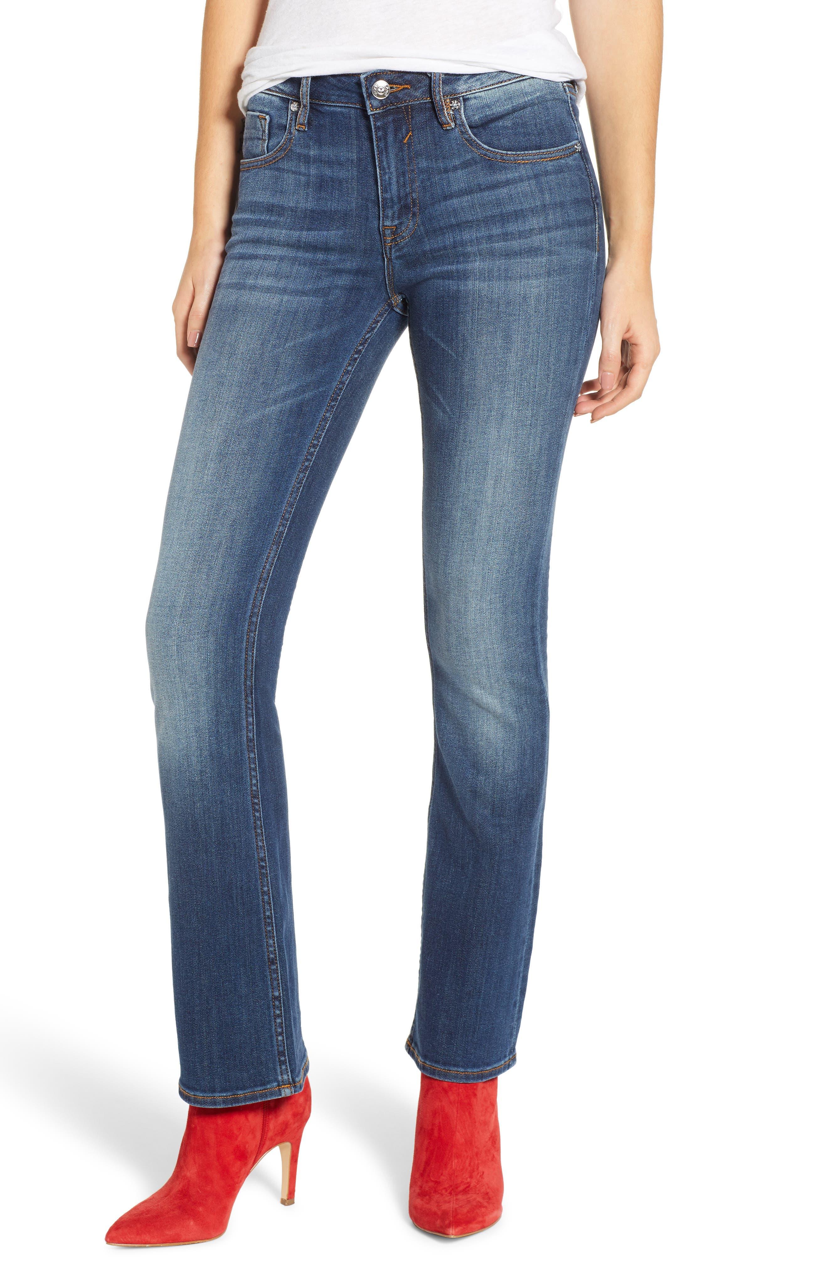 Jagger High Waist Bootcut Jeans,                         Main,                         color, DARK WASH