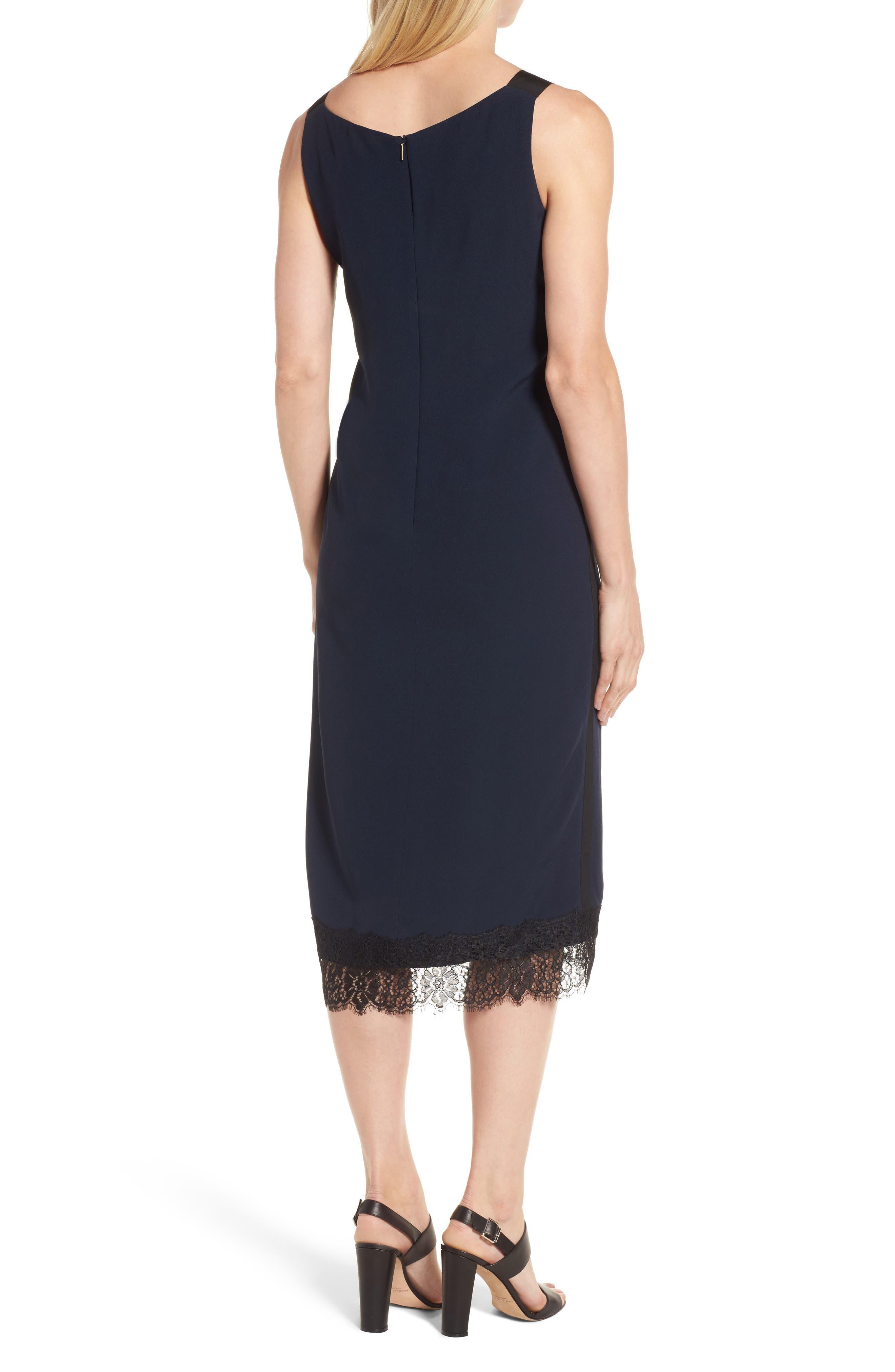 Haminka Lace Trim Shift Dress,                             Alternate thumbnail 2, color,                             480