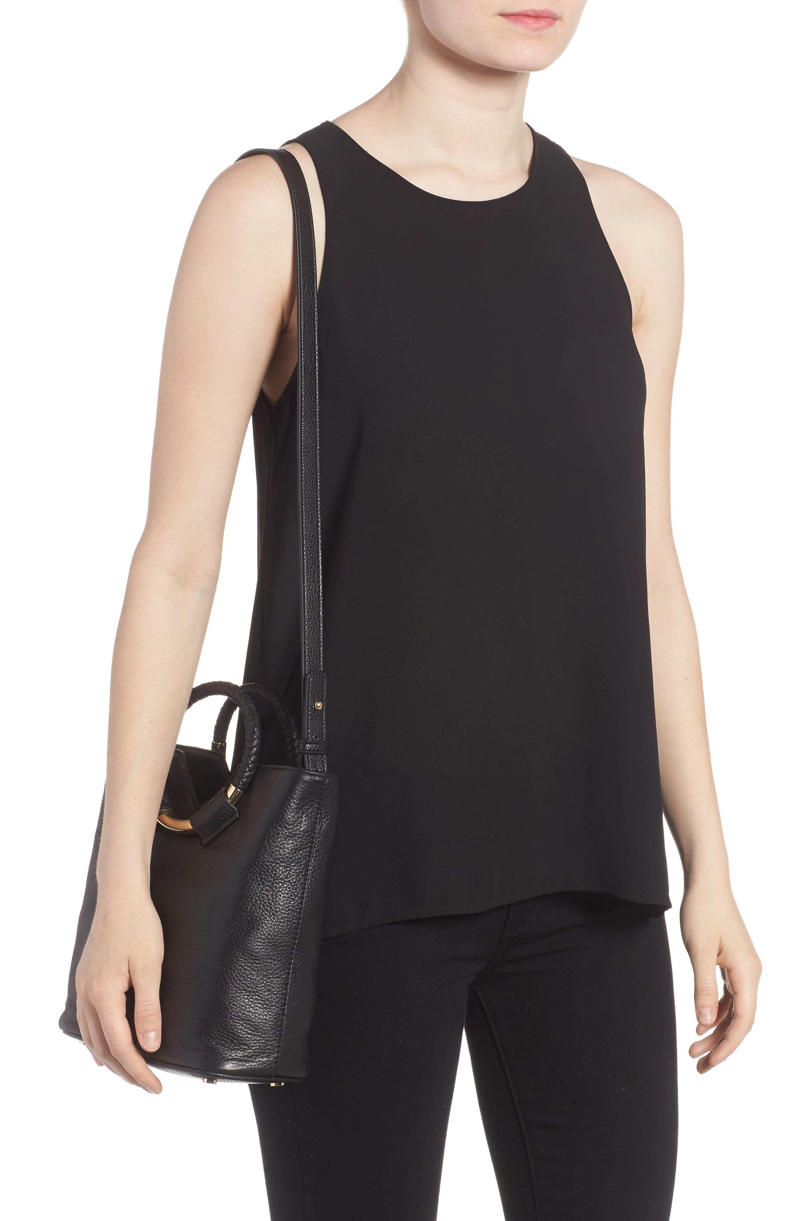 Small Elina Leather Crossbody Bag,                             Alternate thumbnail 2, color,                             001