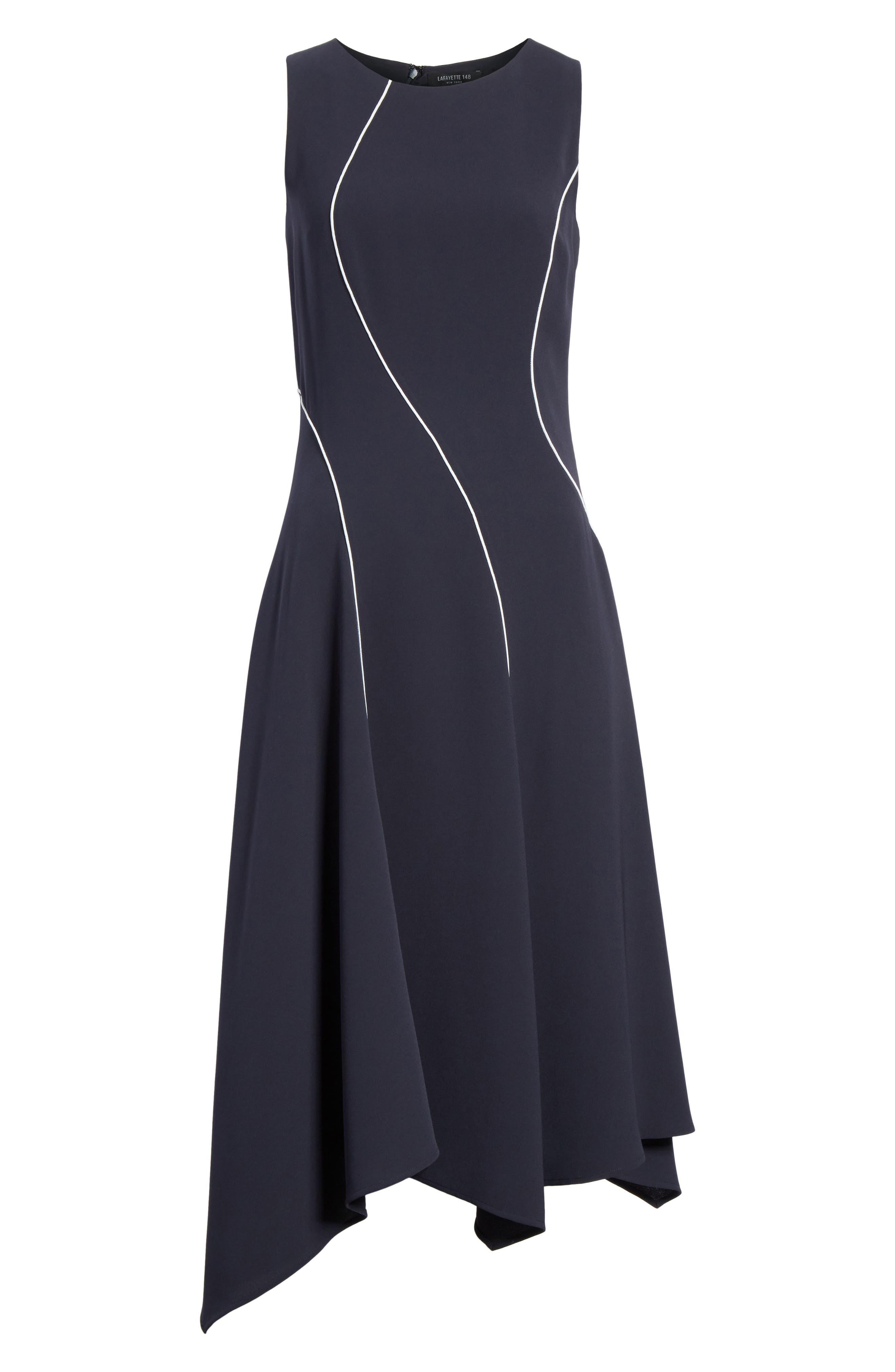 Emberlin Finesse Crepe Dress,                             Alternate thumbnail 6, color,                             479