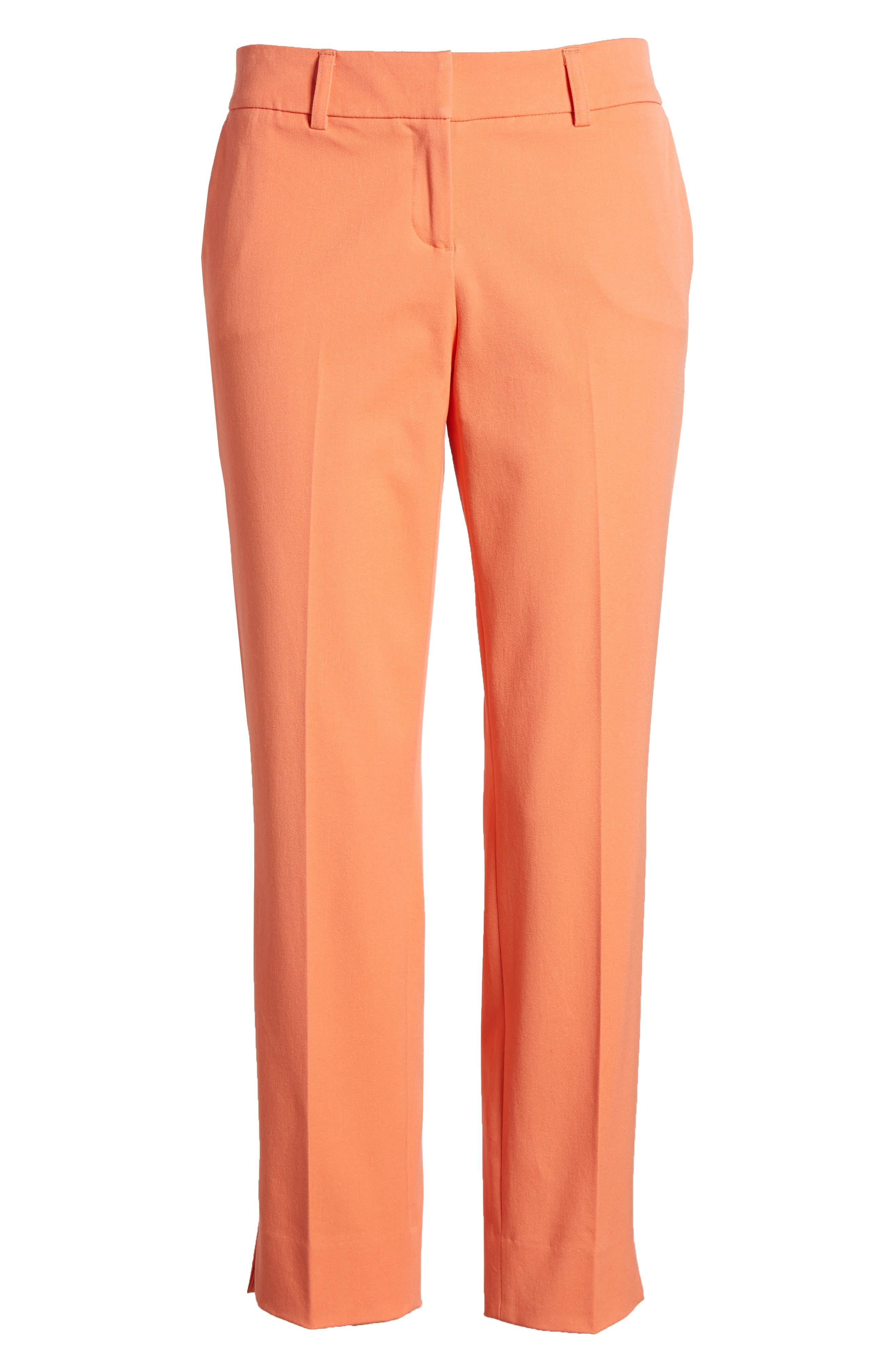 Crop Stretch Cotton Pants,                             Alternate thumbnail 112, color,