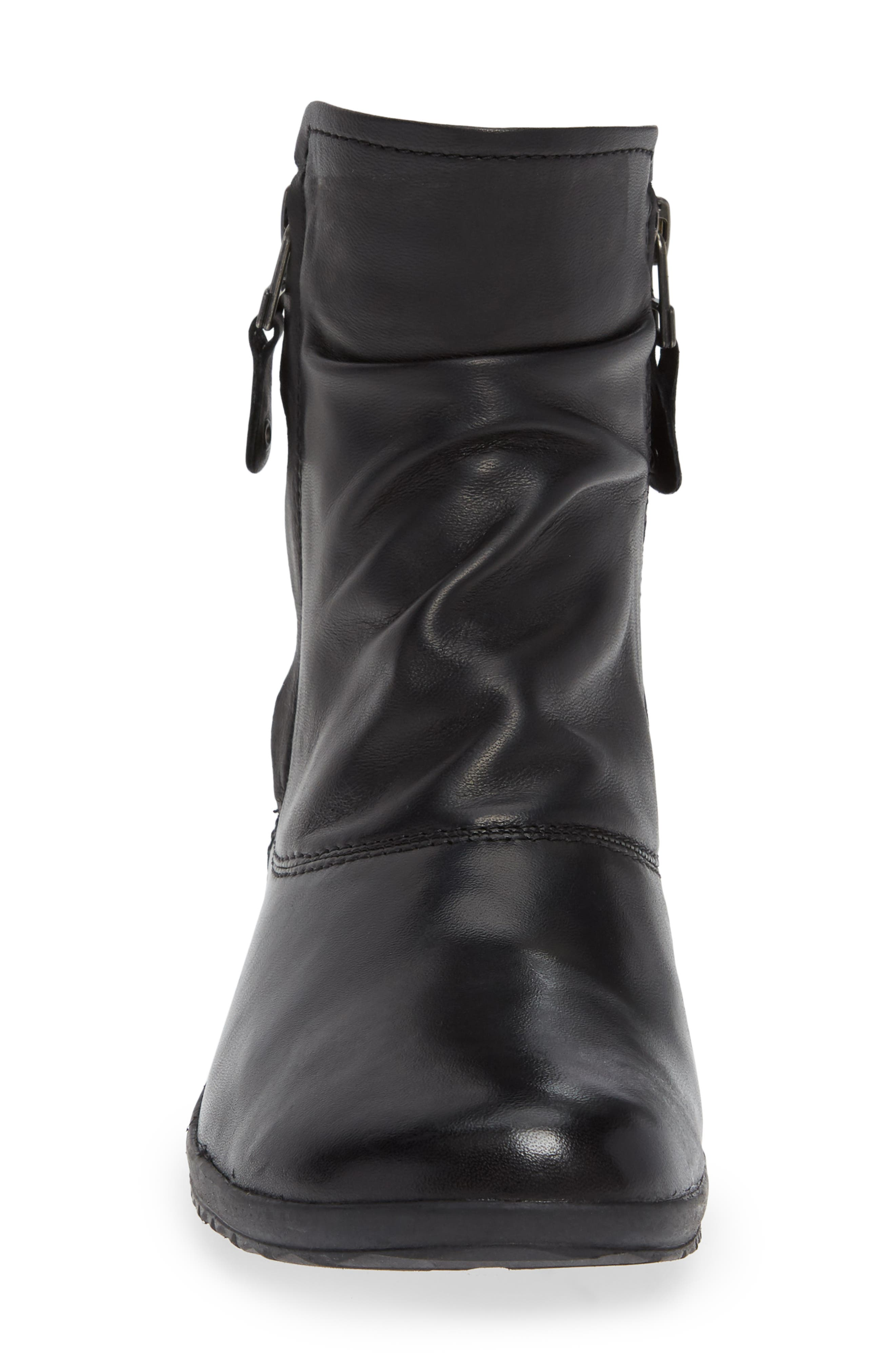 JOSEF SEIBEL,                             Naly 24 Bootie,                             Alternate thumbnail 4, color,                             BLACK LEATHER