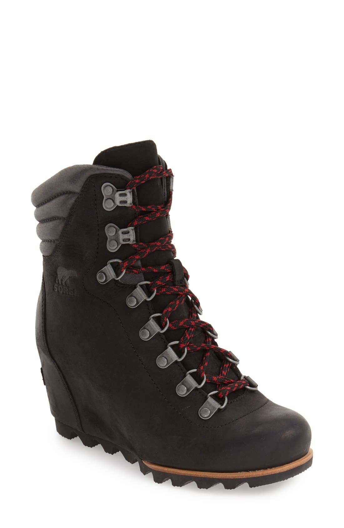 'Conquest' Waterproof Wedge Boot,                             Main thumbnail 1, color,                             010