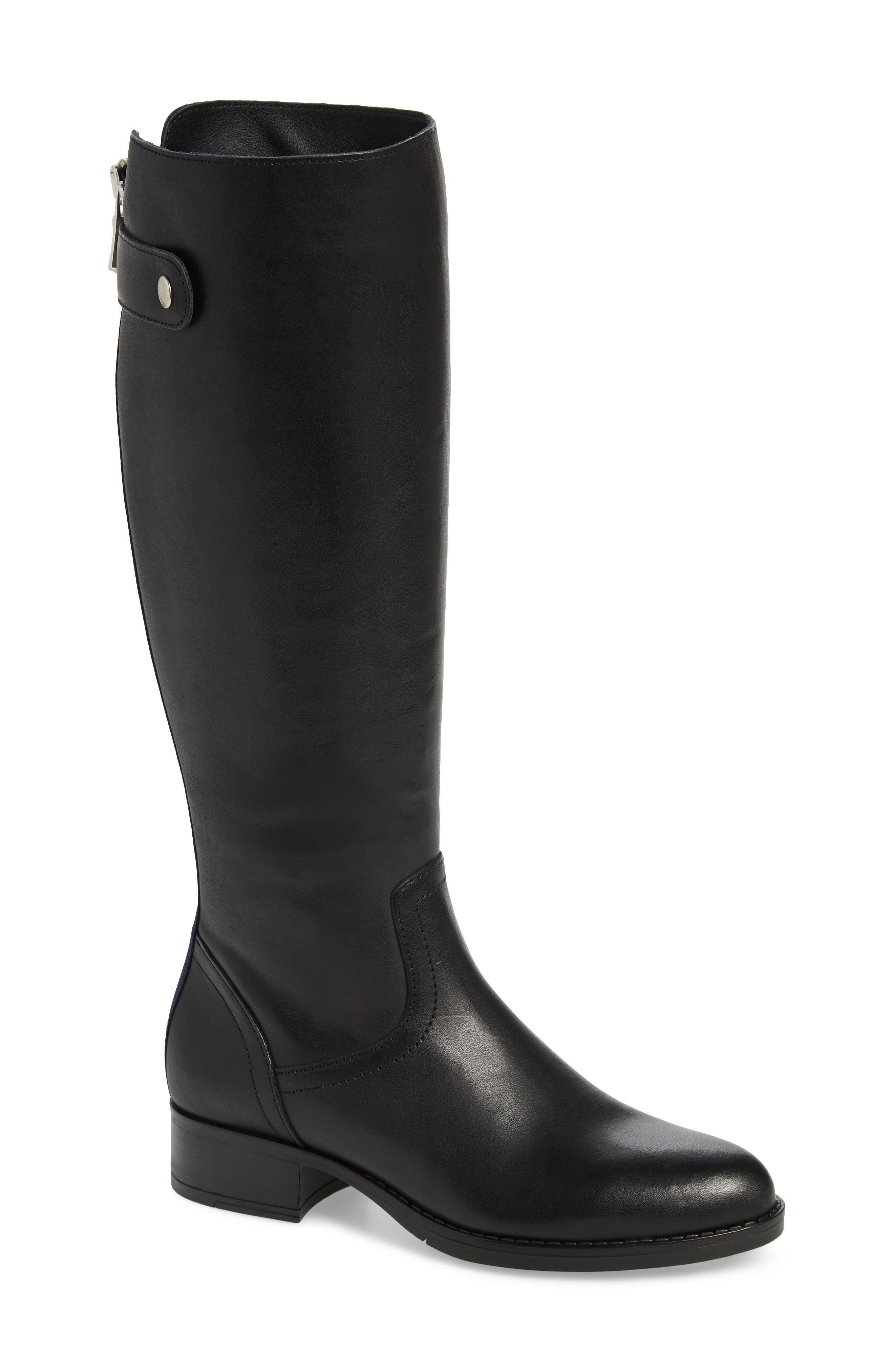 Journal Knee High Boot,                         Main,                         color, BLACK LEATHER
