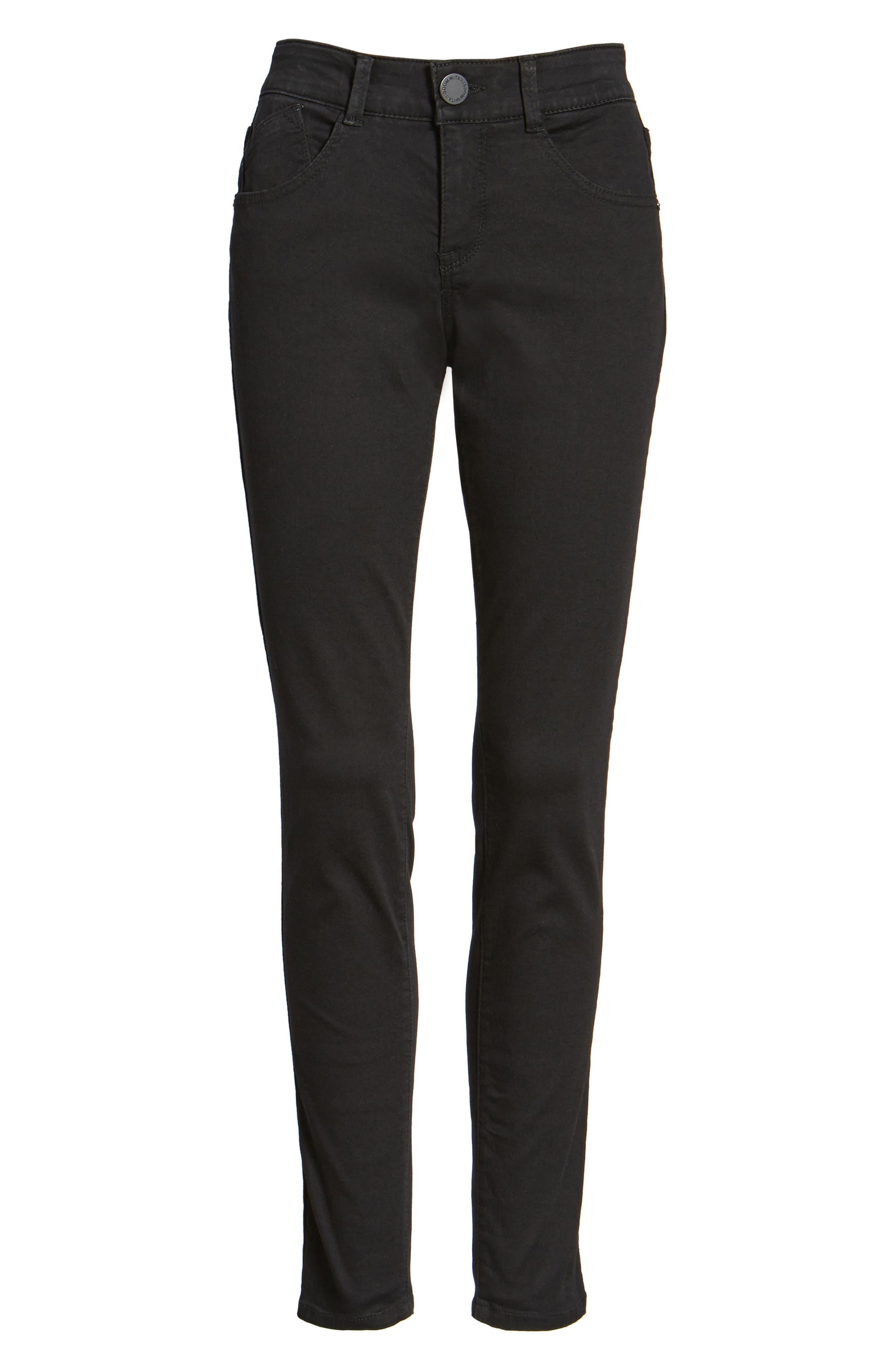 WIT & WISDOM Ab-solution Stretch Skinny Jeans, Main, color, BLACK