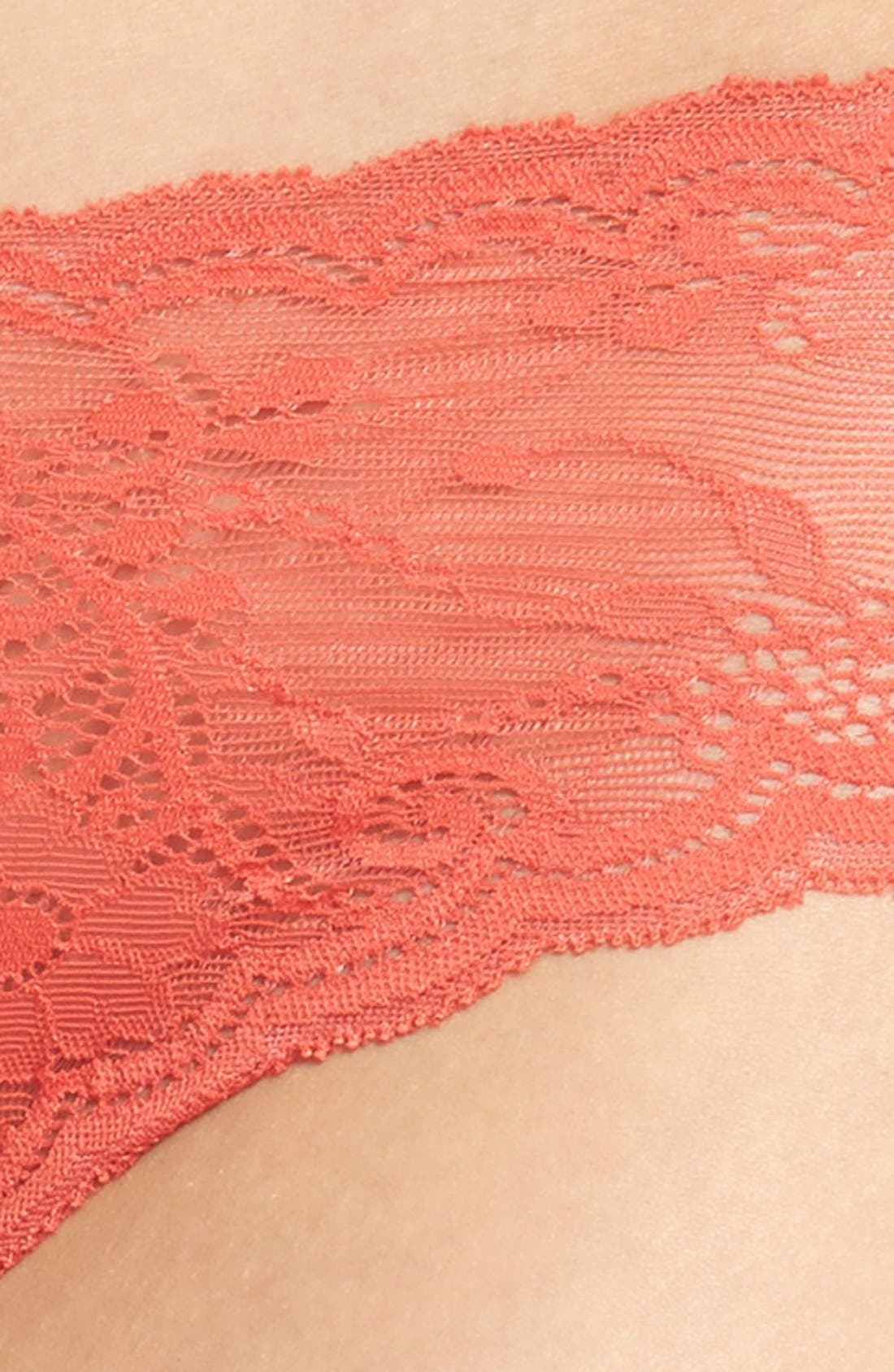 'Trenta' Low Rise Lace Thong,                             Alternate thumbnail 108, color,