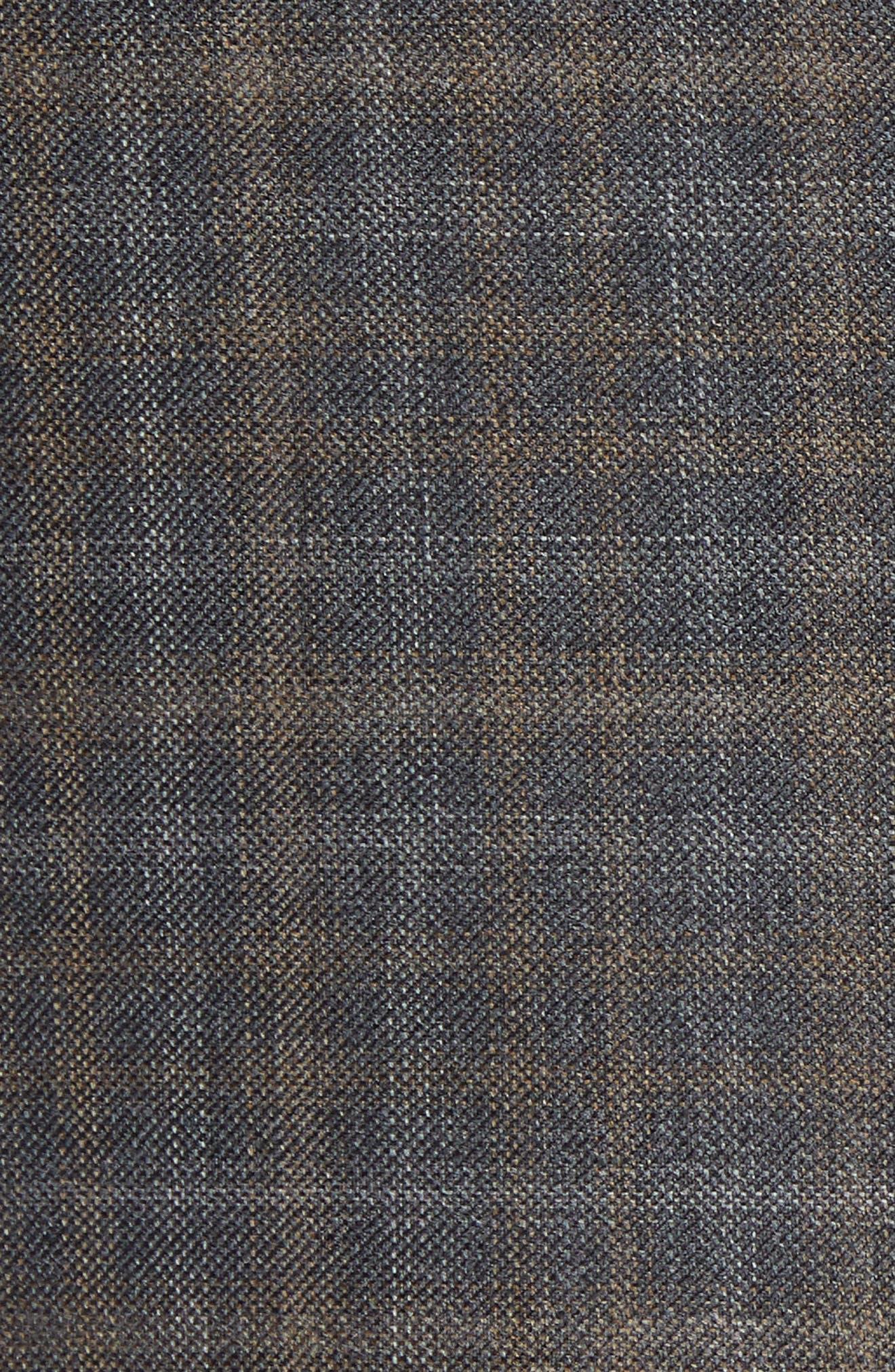 Classic Fit Wool Sport Coat,                             Alternate thumbnail 6, color,                             BROWN