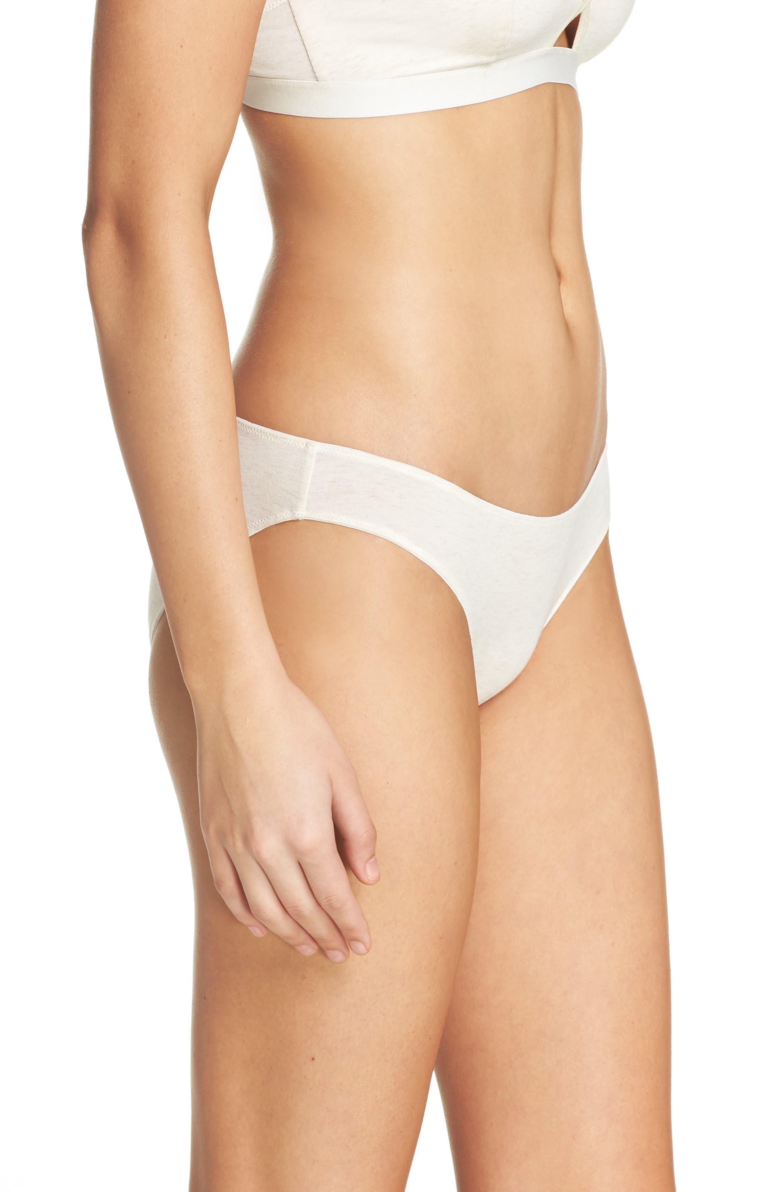 Jersey Bikini,                             Alternate thumbnail 3, color,                             HEATHER BISQUE