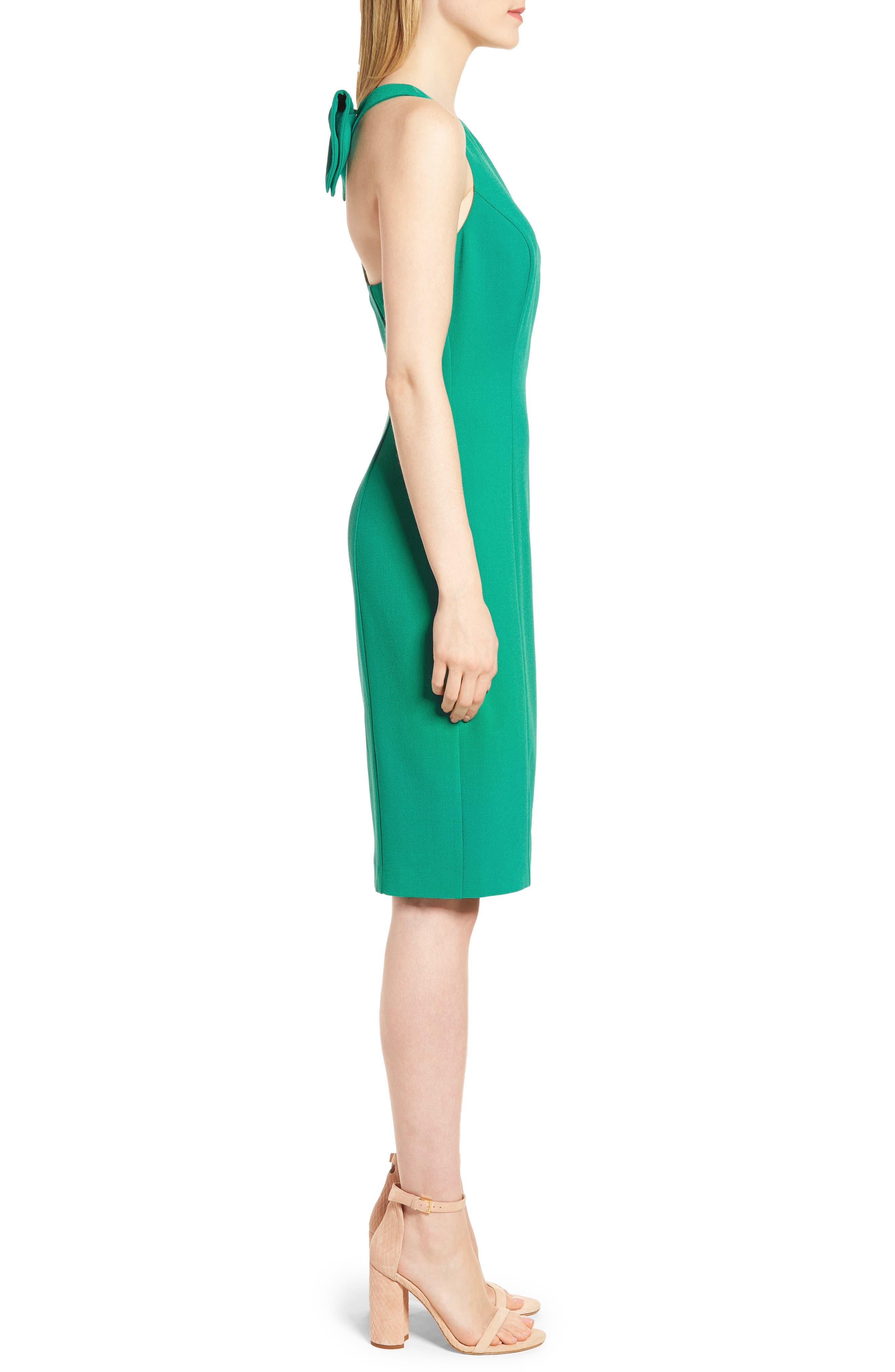 Bow Back Sheath Dress,                             Alternate thumbnail 9, color,