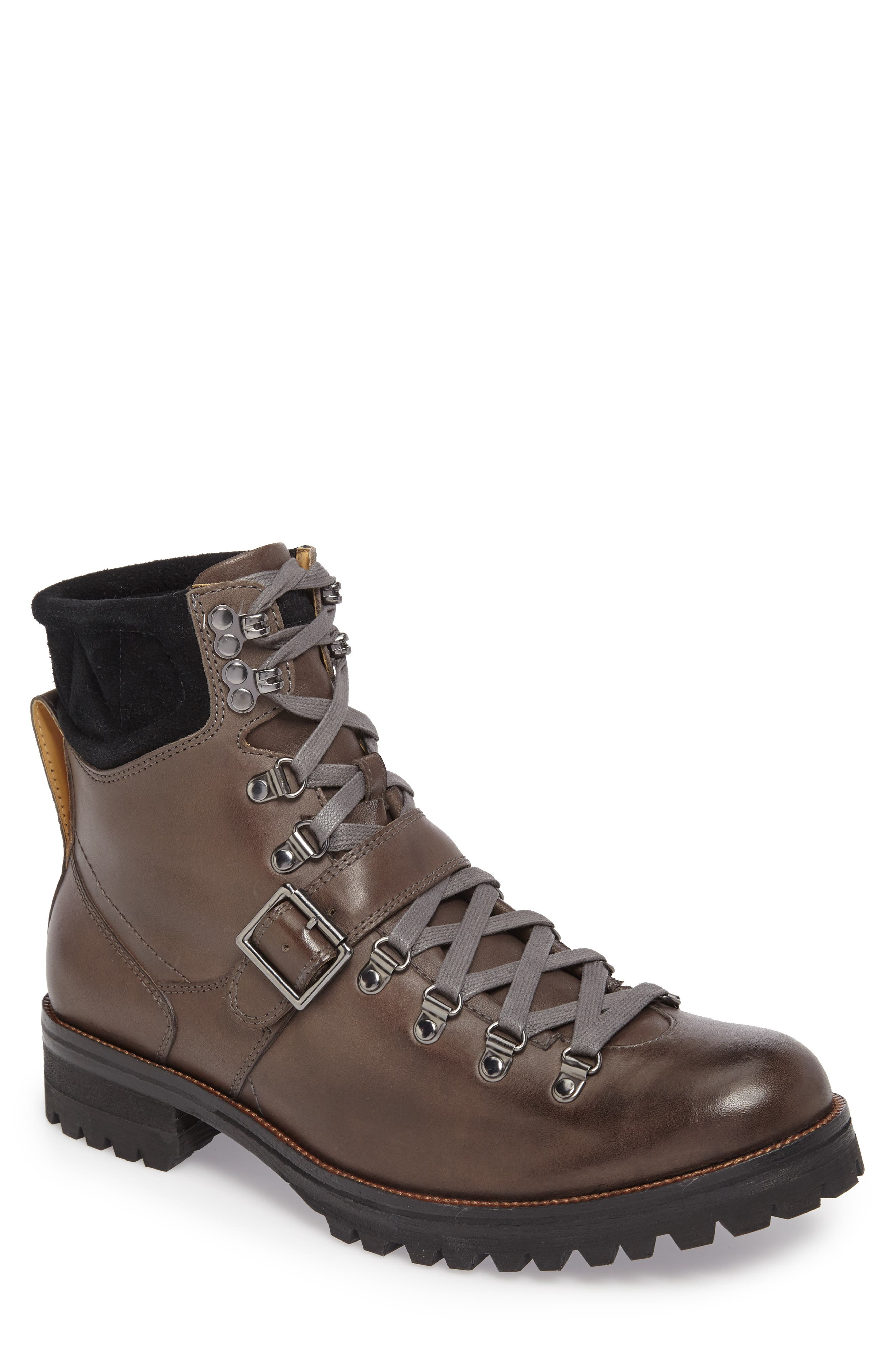 Storm Lug Hiker Boot,                             Main thumbnail 1, color,                             GREY LEATHER