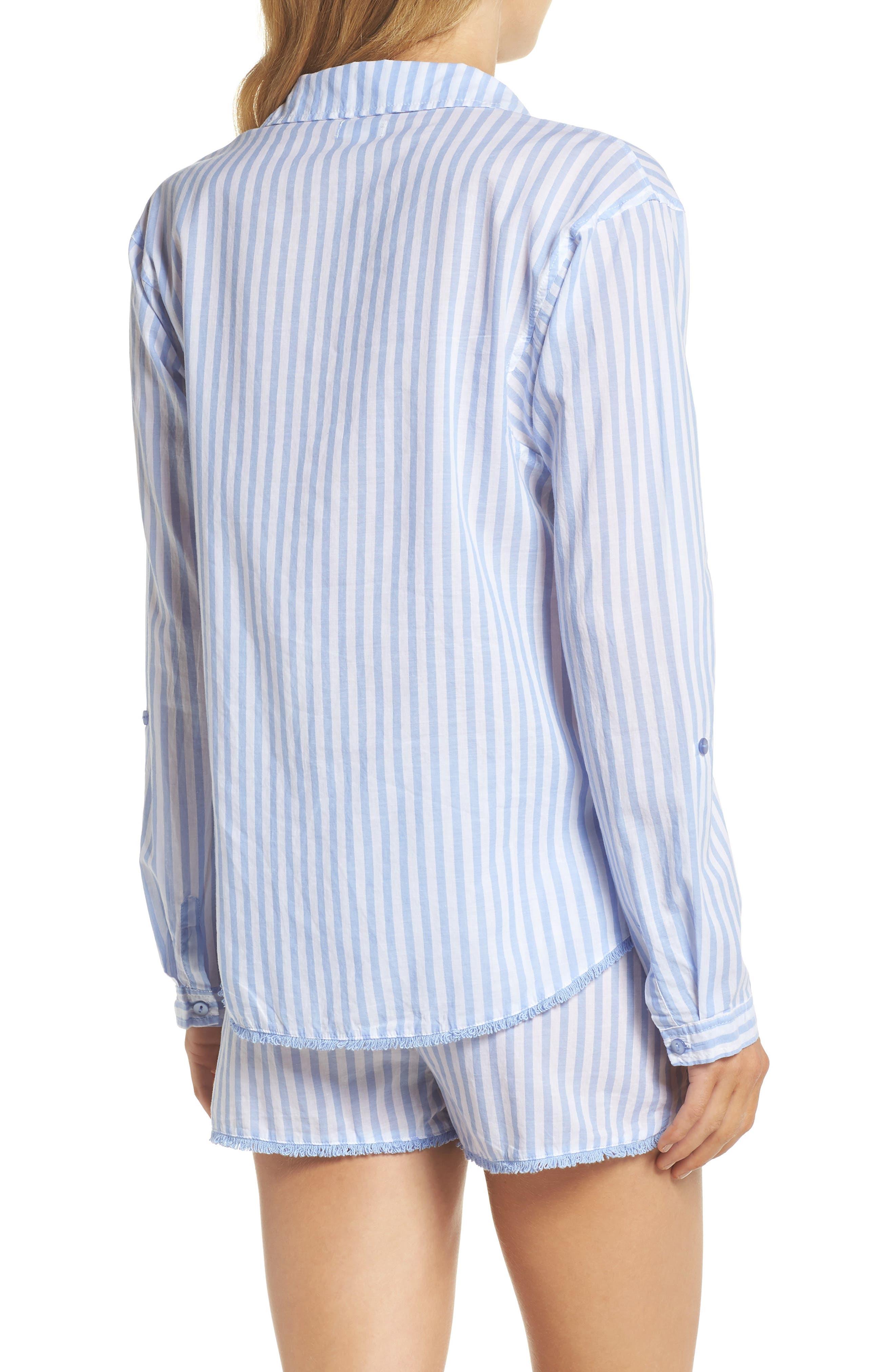 Stripe Short Pajamas,                             Alternate thumbnail 2, color,                             100
