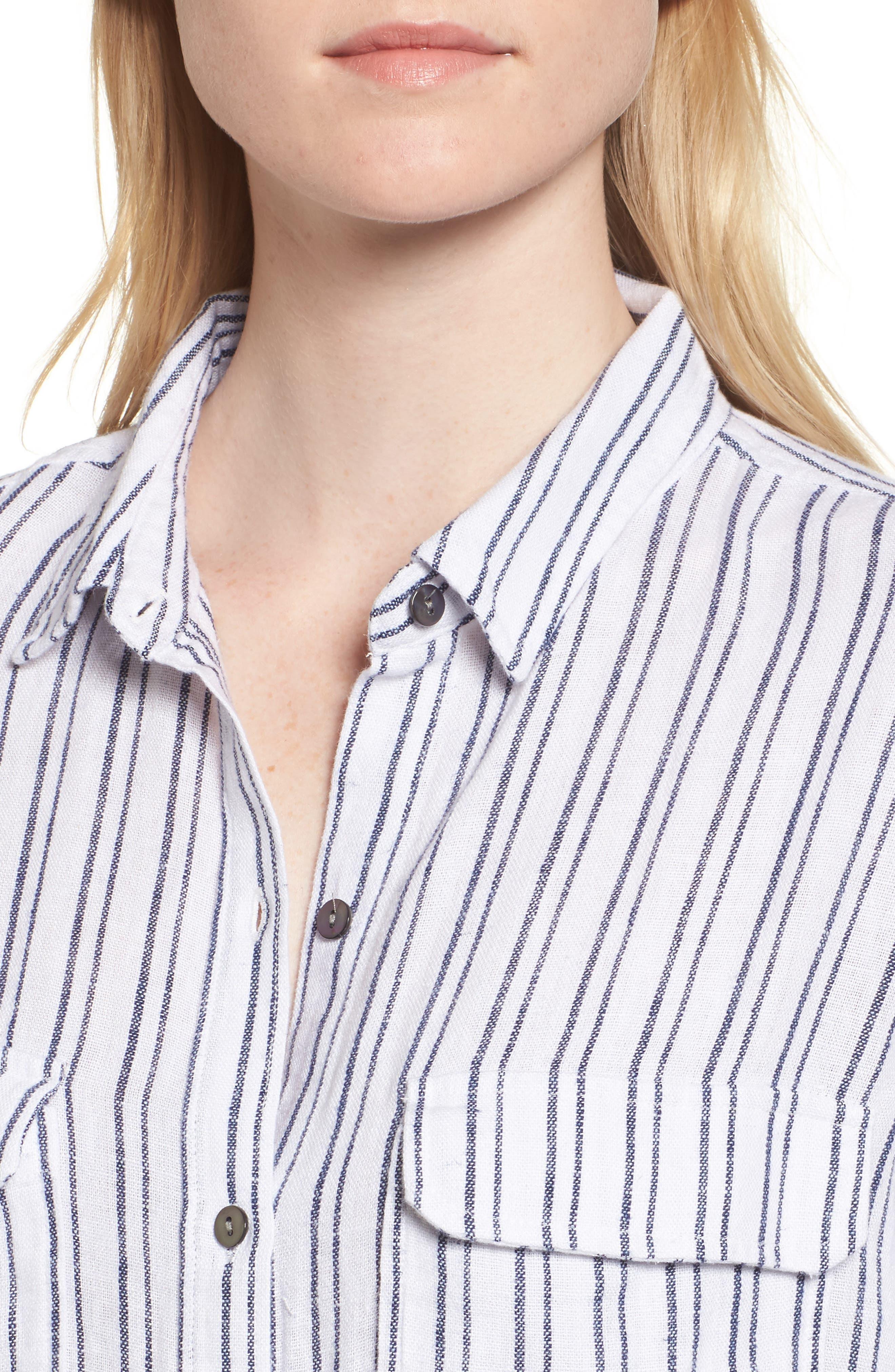 Jimi Stripe Shirt,                             Alternate thumbnail 4, color,
