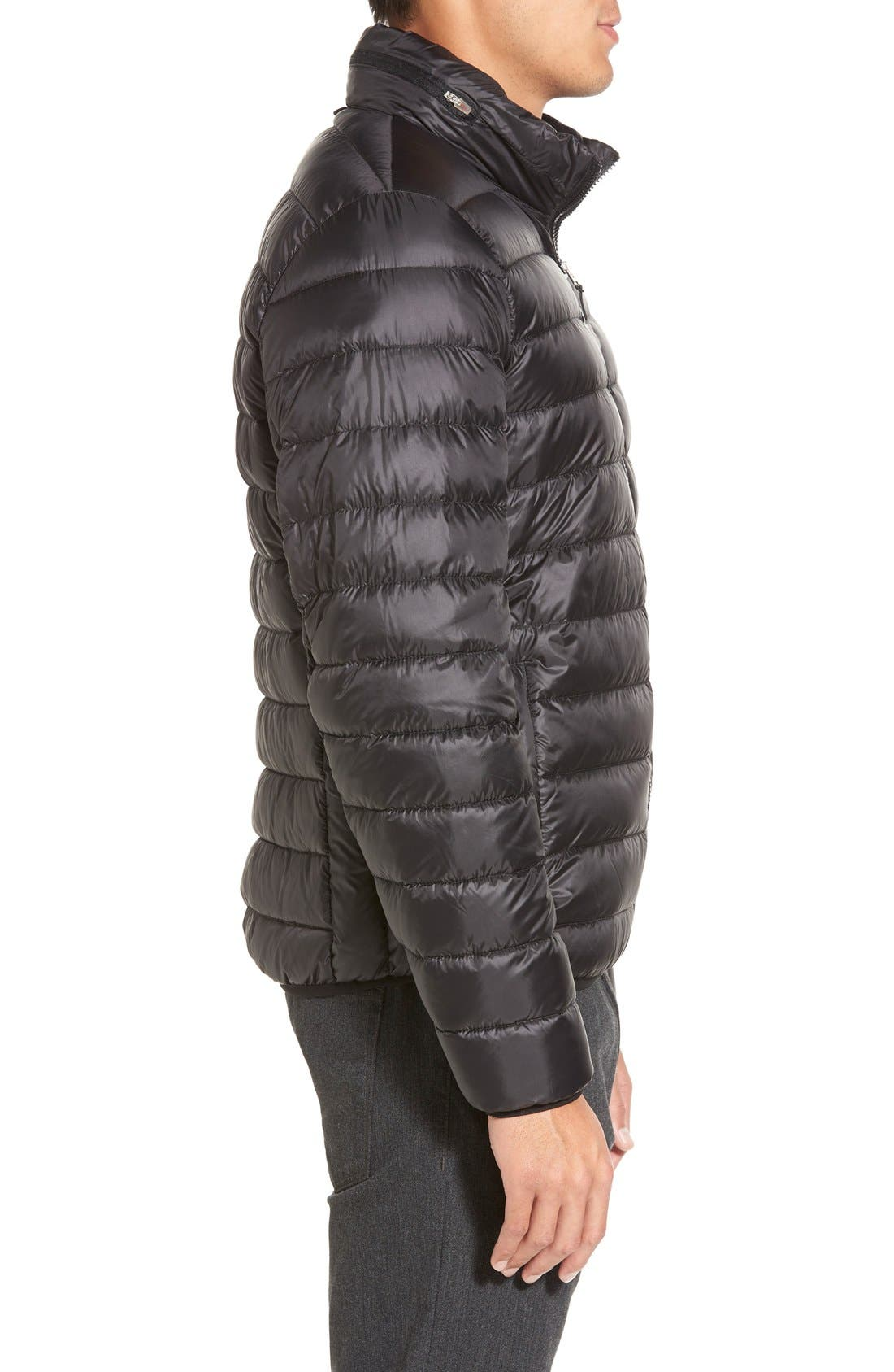 Pax Packable Quilted Jacket,                             Alternate thumbnail 4, color,                             001