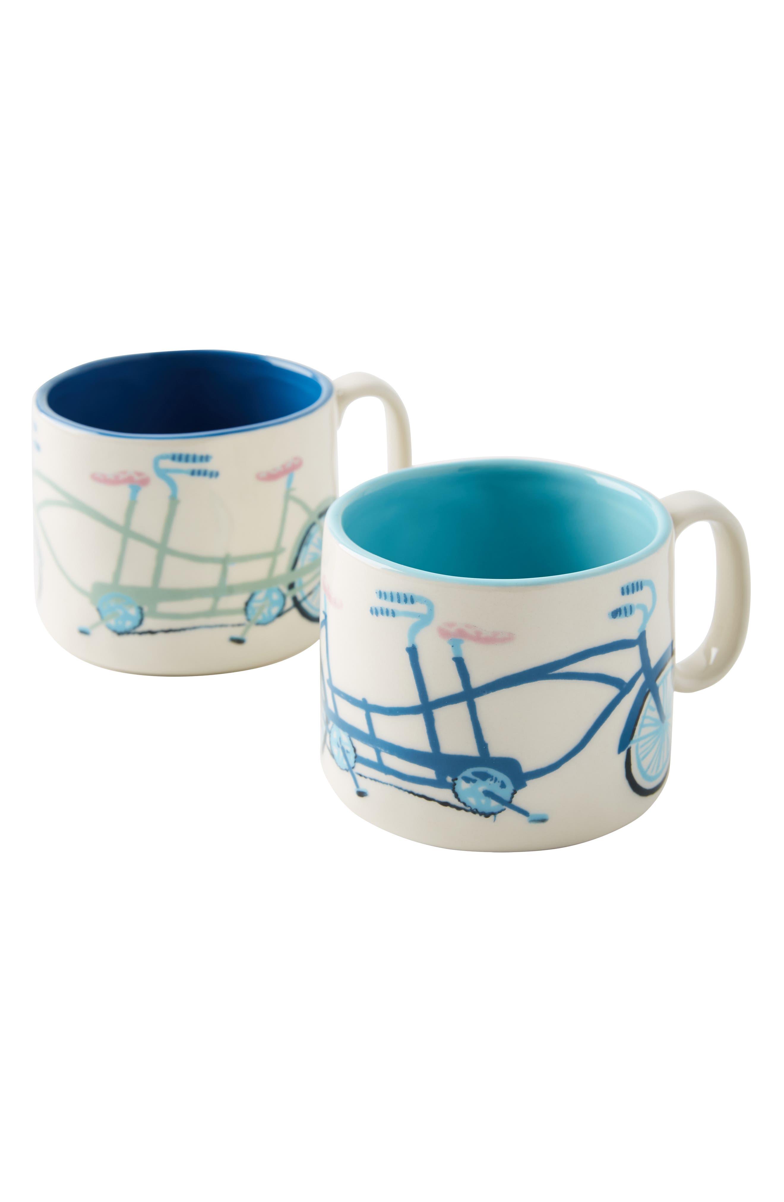 ANTHROPOLOGIE,                             Tandem Mug Set of 2 Mugs,                             Alternate thumbnail 4, color,                             BETTER TOGETHER
