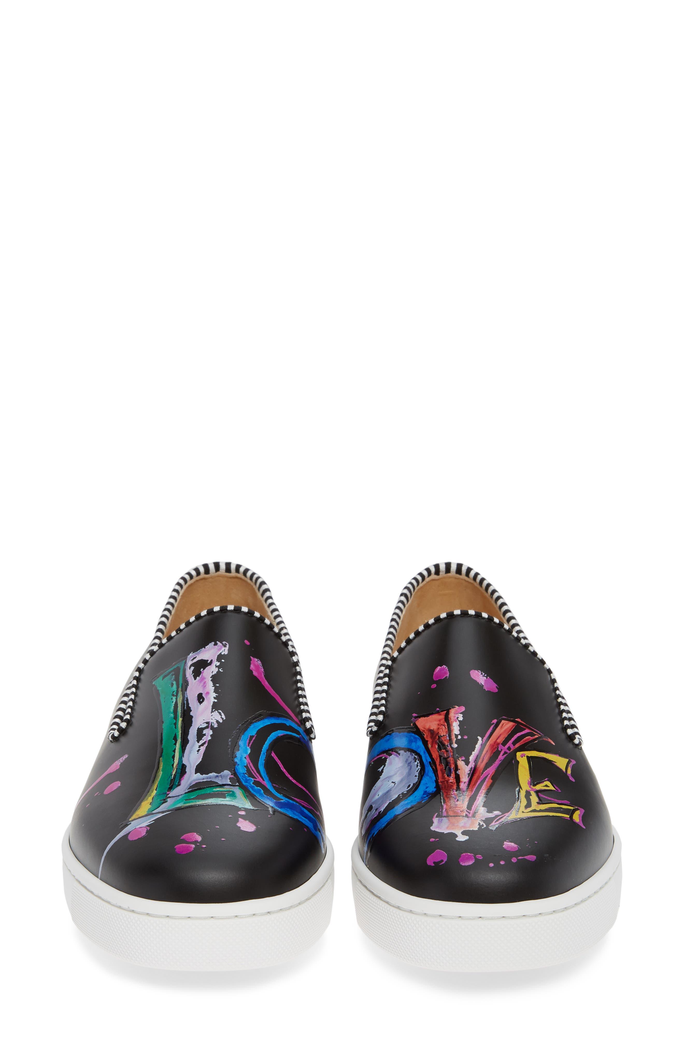 Loubi Love Slip-On Sneaker,                             Alternate thumbnail 5, color,                             BLACK