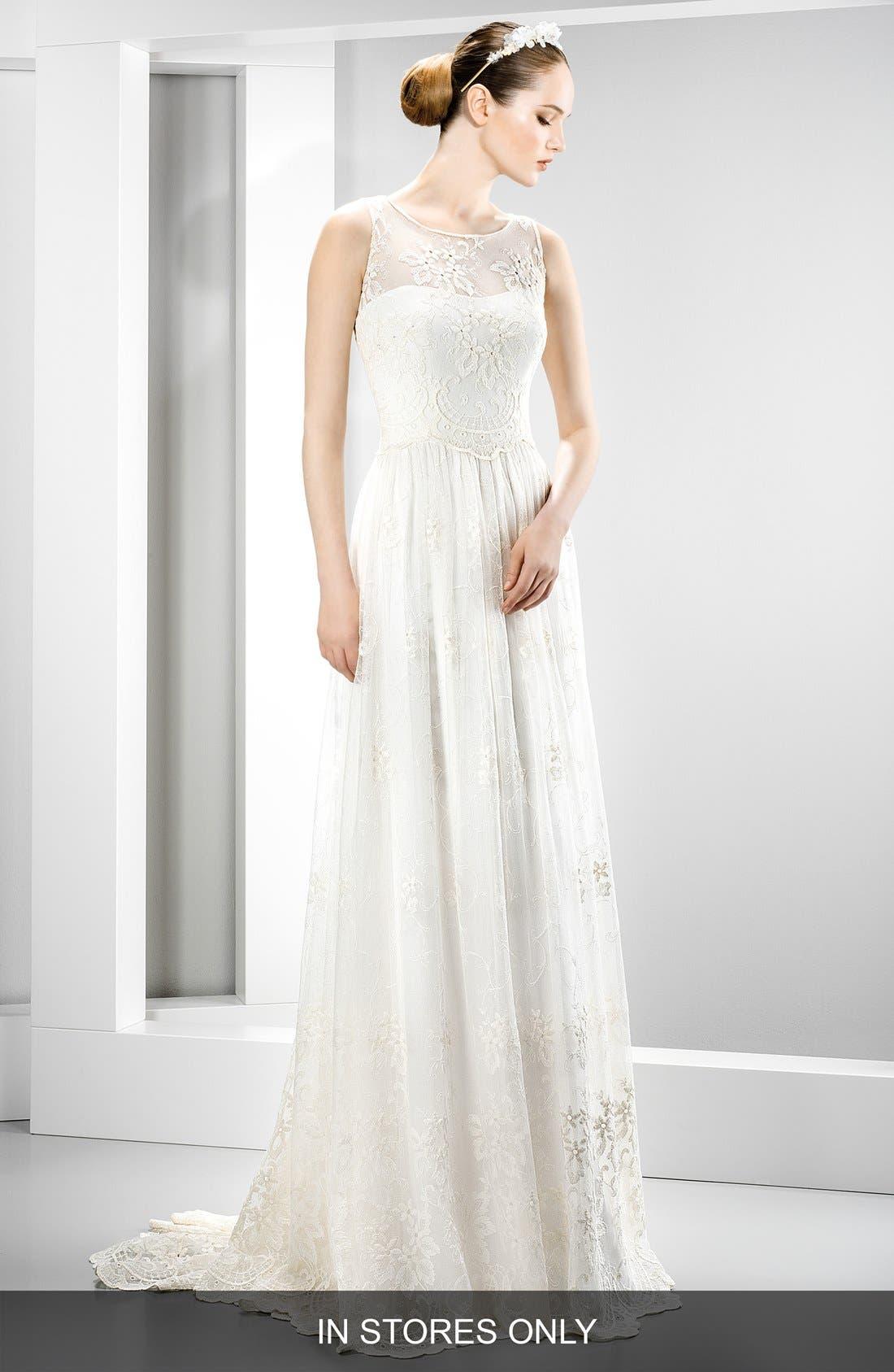 Illusion Lace Boho Dress,                             Main thumbnail 1, color,