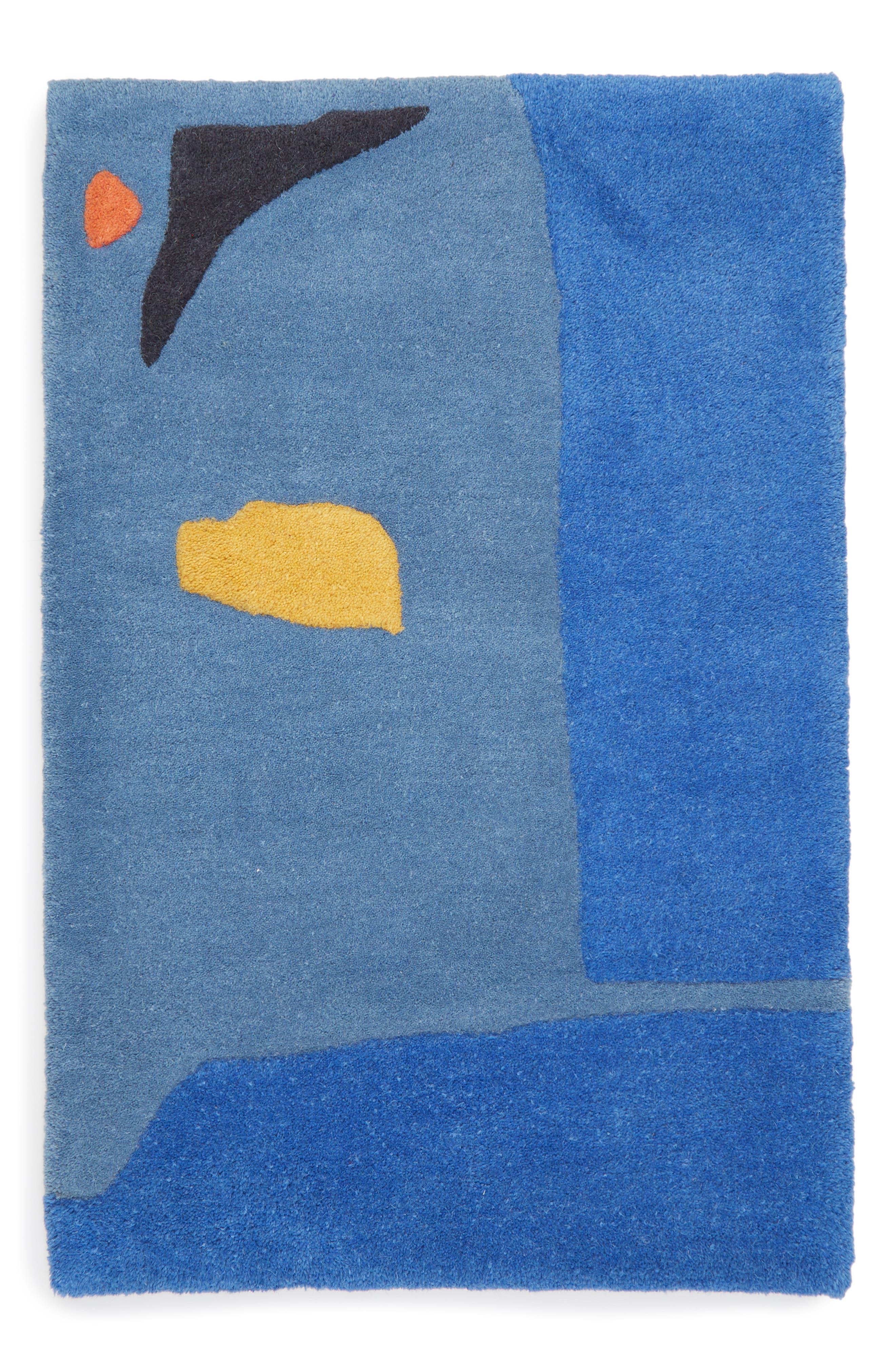 The Little Stranger Hand Tufted Wool Rug,                             Main thumbnail 1, color,                             BLUE