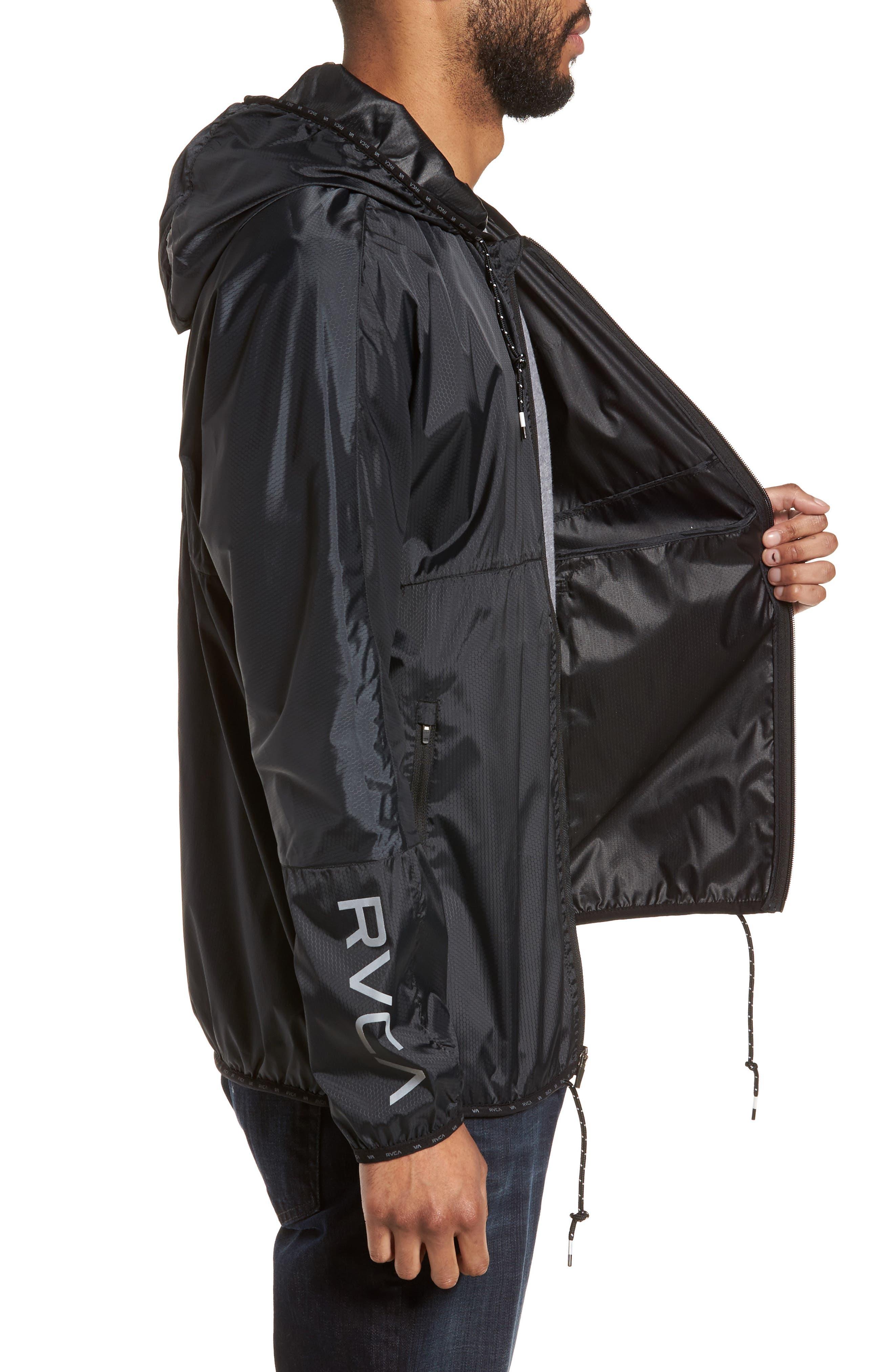 Hexstop II Water Repellent Hooded Jacket,                             Alternate thumbnail 3, color,                             001