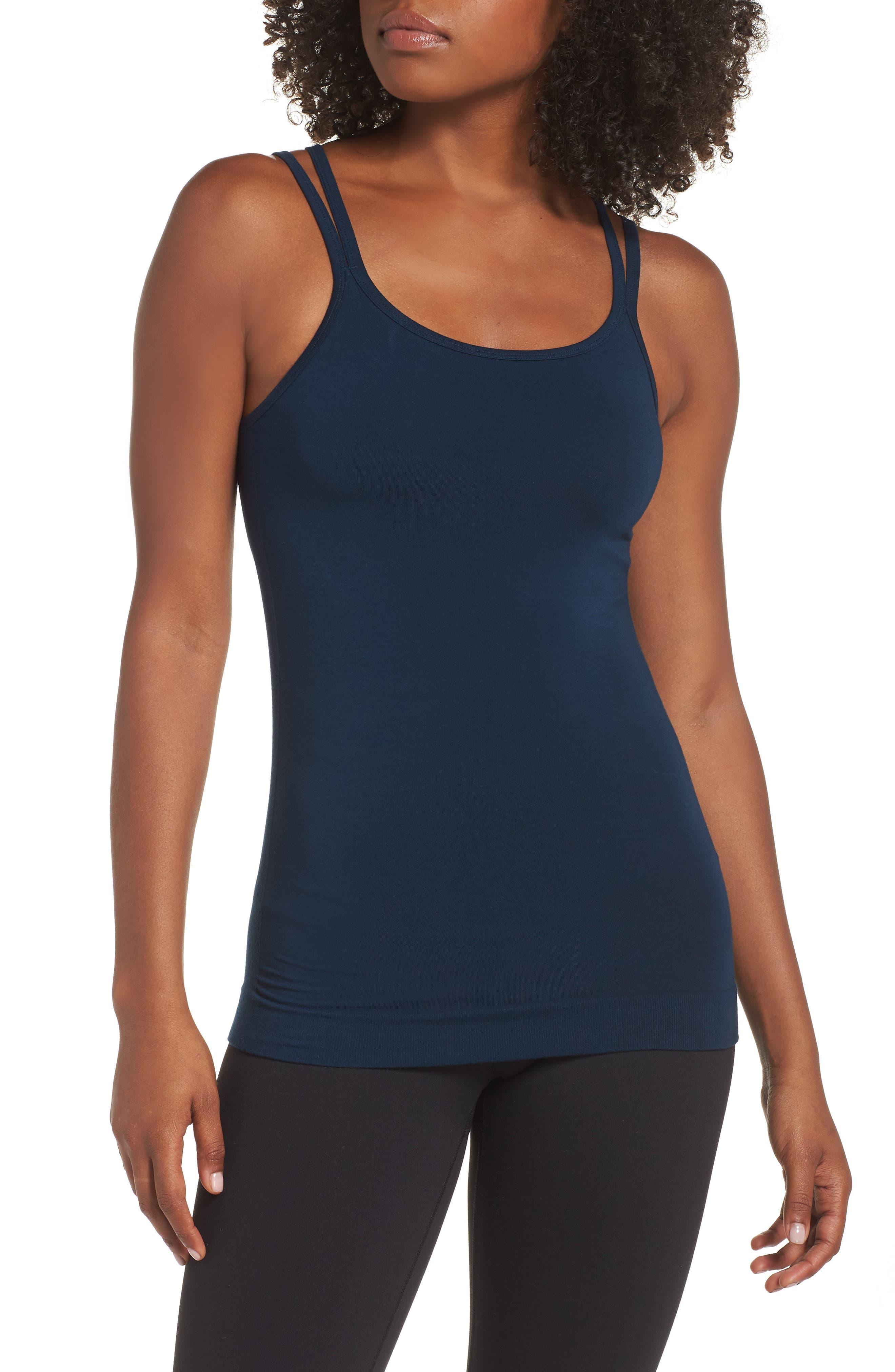 Namaska Yoga Tank,                             Main thumbnail 1, color,                             BEETLE BLUE