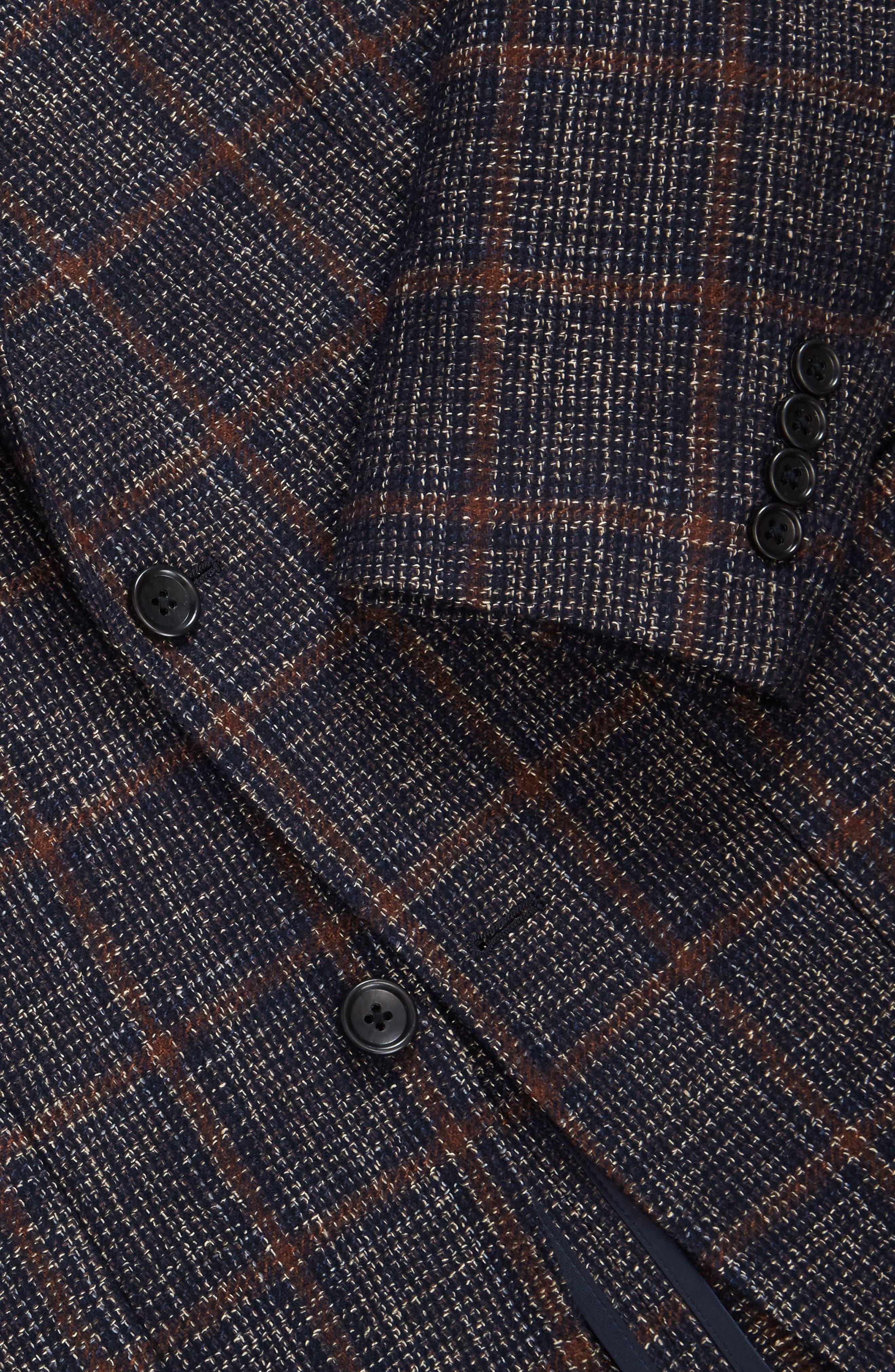 Slim Fit Wool Blend Blazer,                             Alternate thumbnail 3, color,                             400