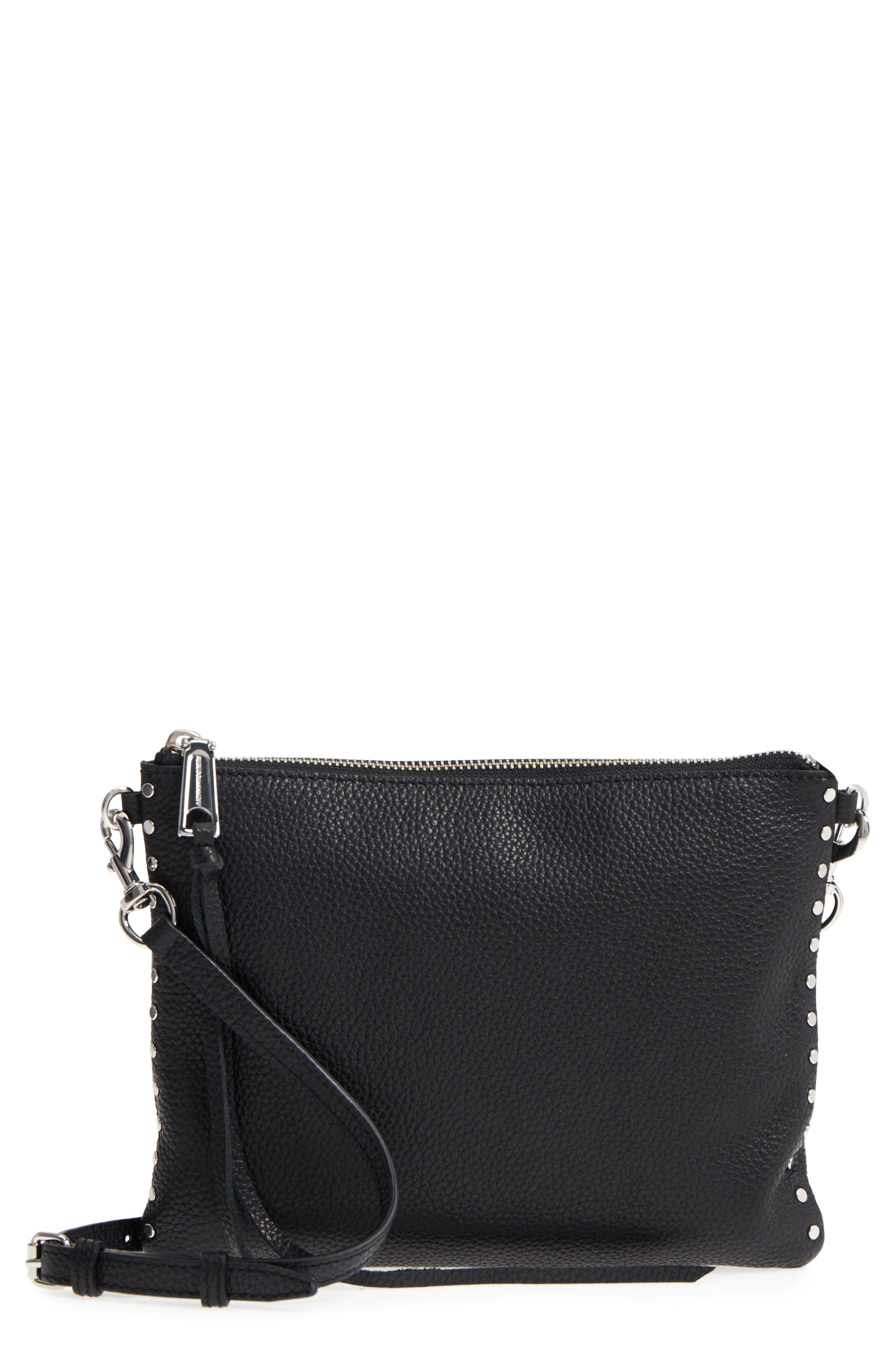 Jon Studded Leather Crossbody Bag, Main, color, 001