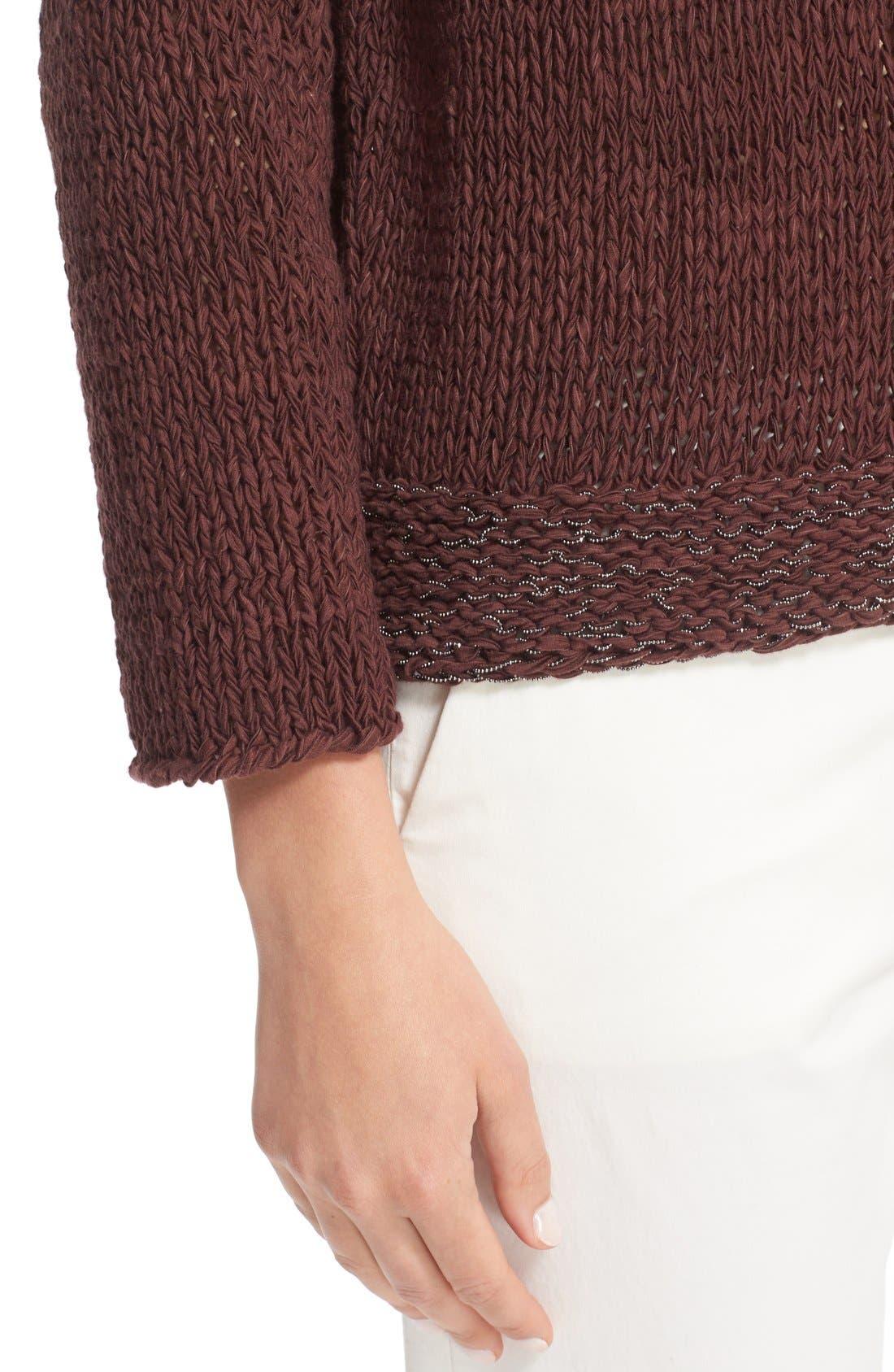 Mollini Trim Cotton Blend Sweater,                             Alternate thumbnail 6, color,                             601