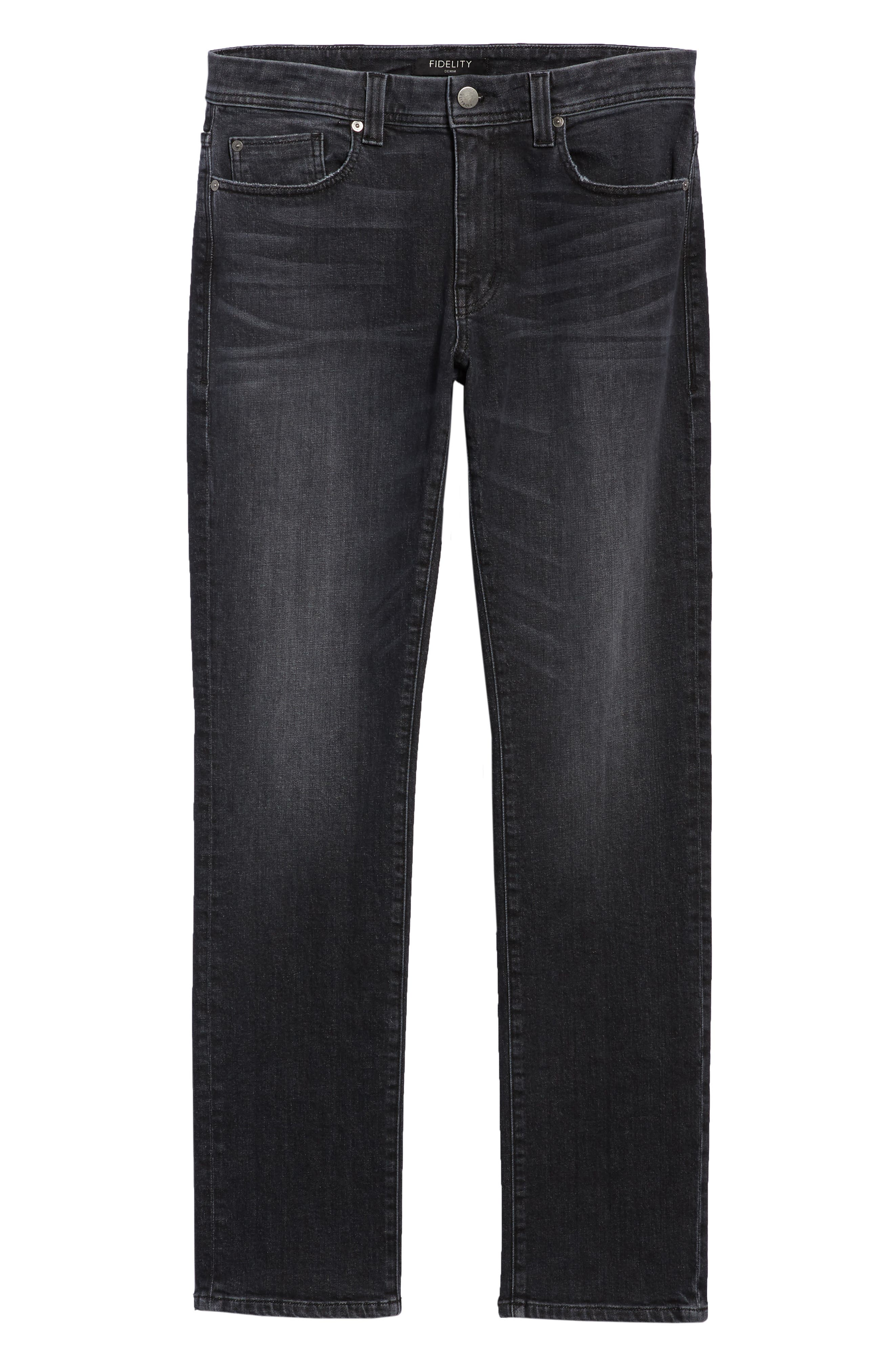 Jimmy Slim Straight Leg Jeans,                             Alternate thumbnail 6, color,                             RAVEN VINTAGE