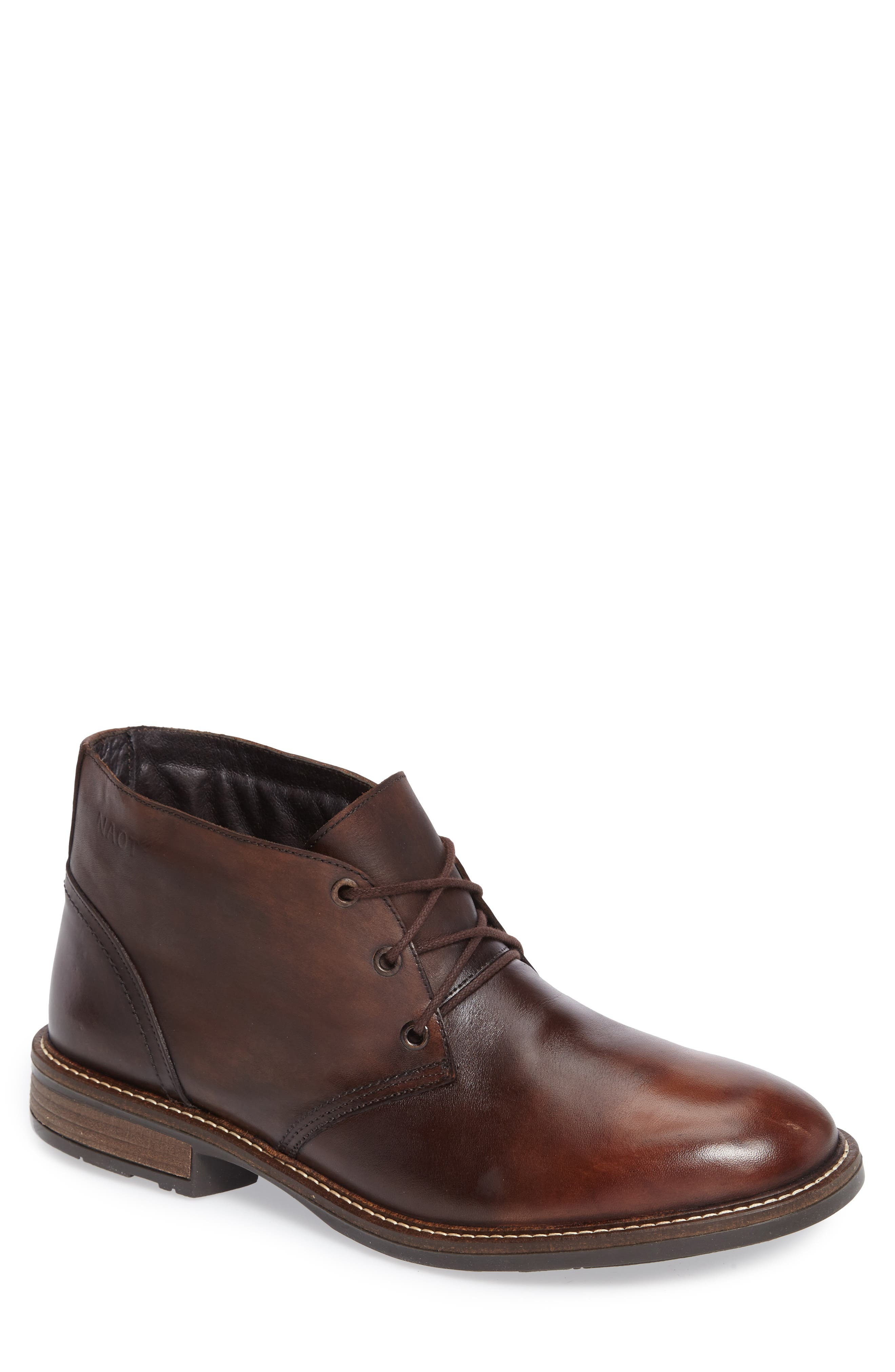Pilot Chukka Boot,                         Main,                         color, BROWN GRADIENT LEATHER