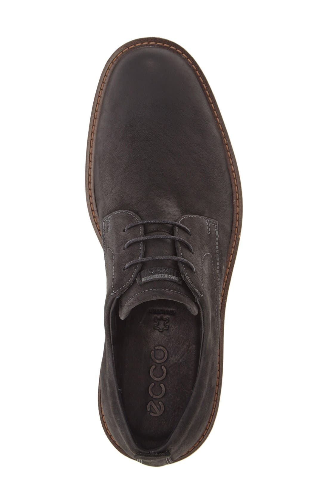 ECCO,                             'Jeremy Hybrid' Plain Toe Derby,                             Alternate thumbnail 3, color,                             001