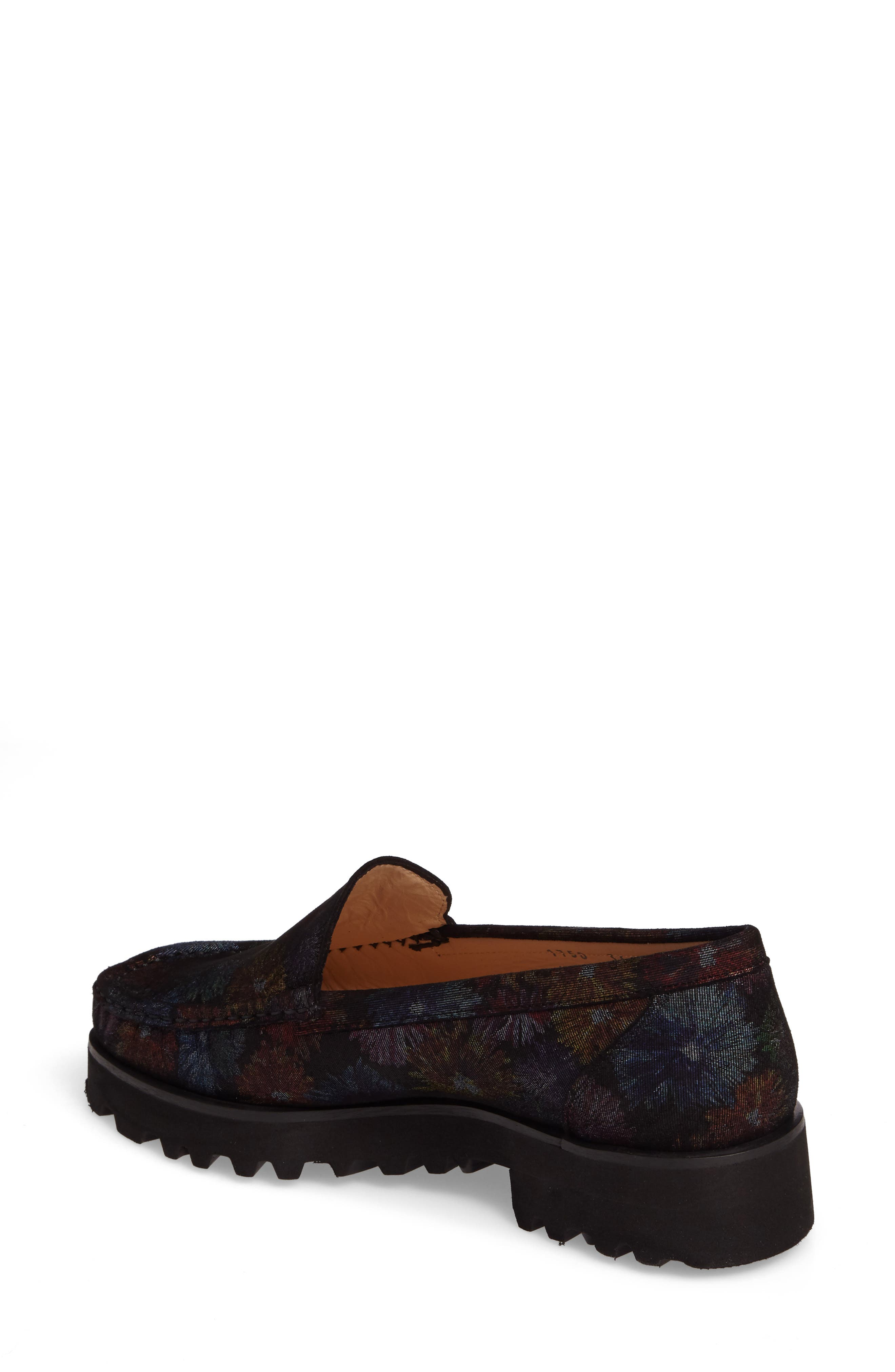 Rita Floral Water Resistant Penny Loafer,                             Alternate thumbnail 2, color,                             400