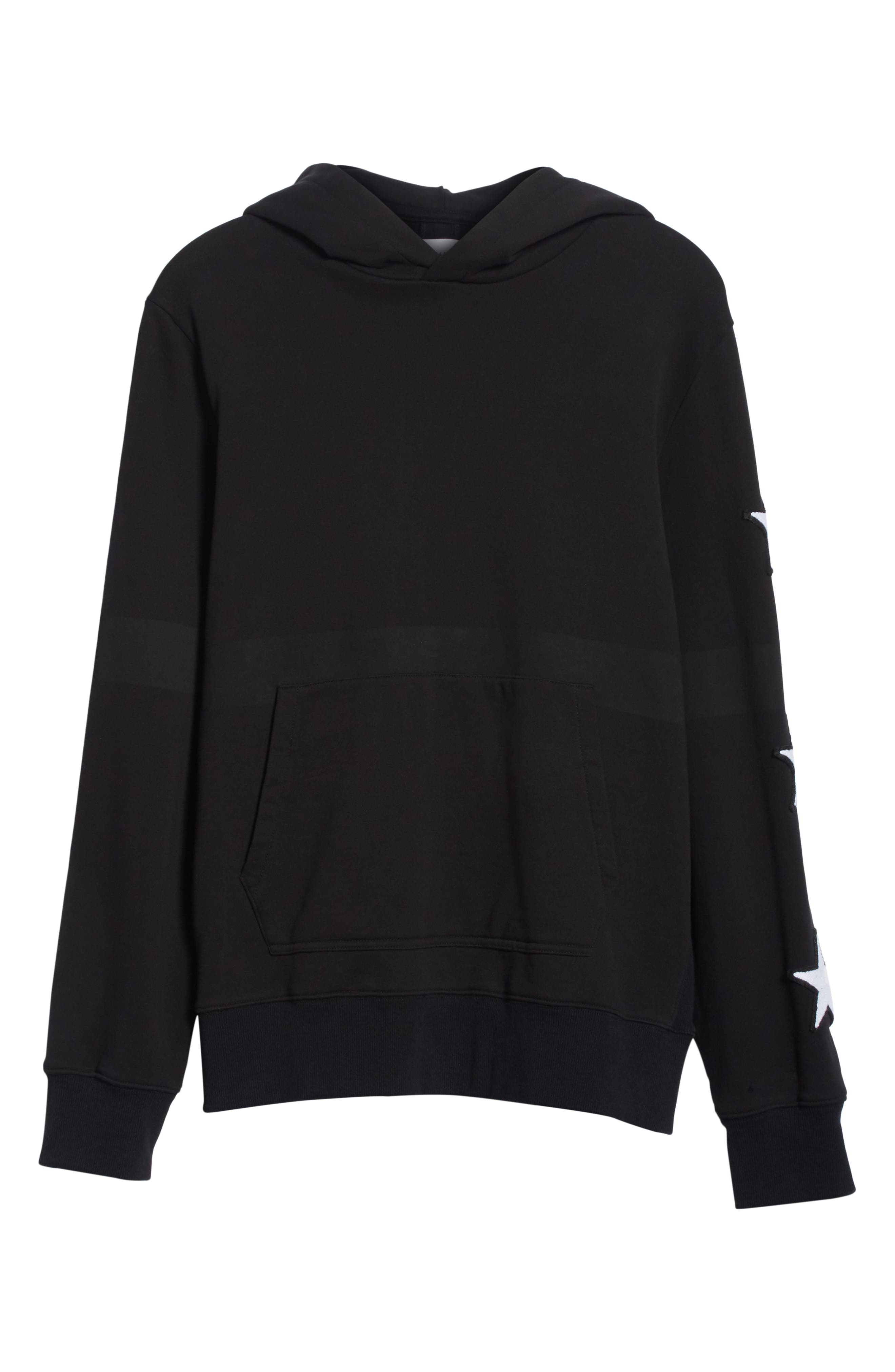Star Patch Hoodie,                             Alternate thumbnail 6, color,                             001