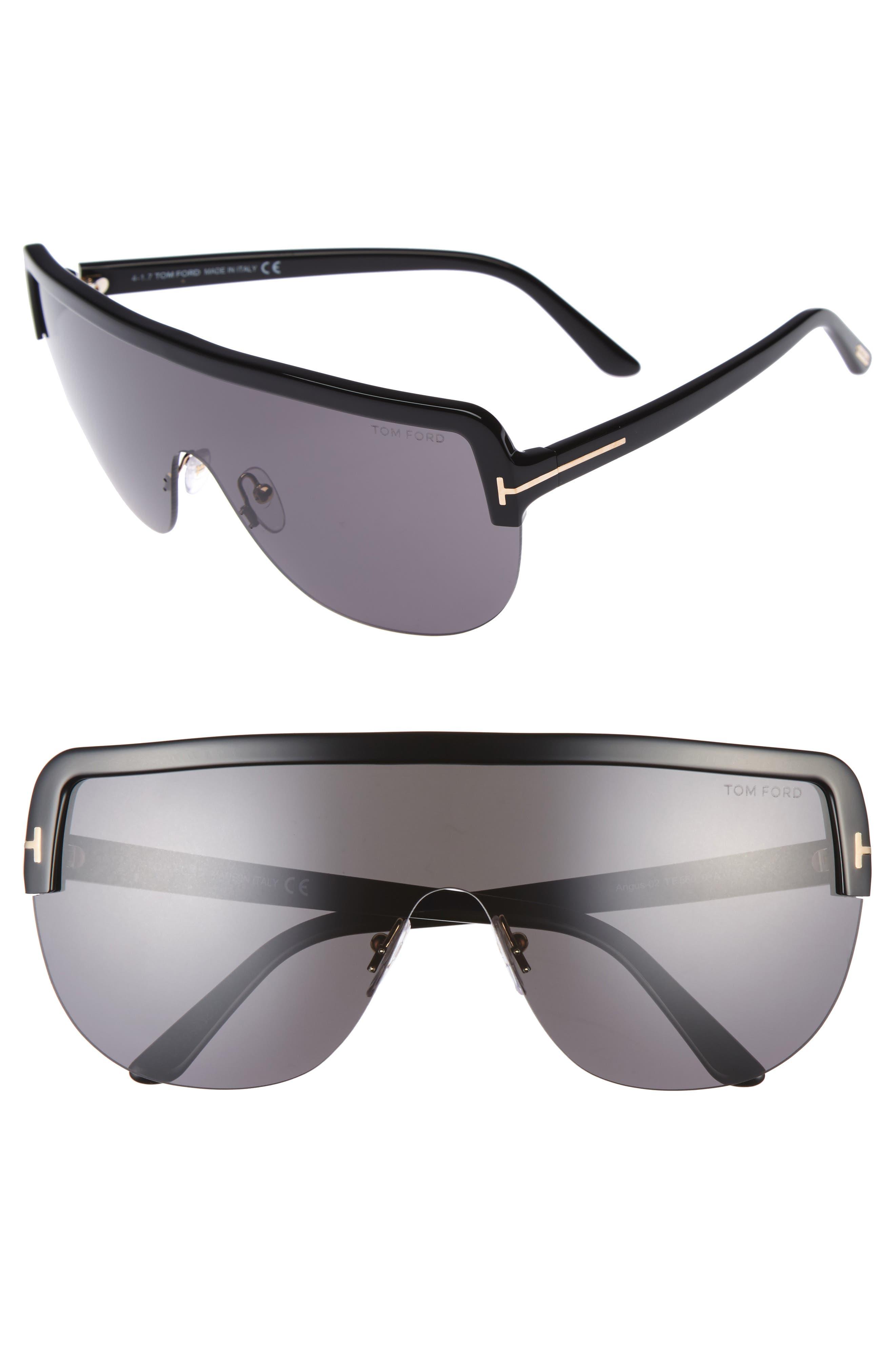 Angus 66mm Shield Sunglasses,                             Main thumbnail 1, color,