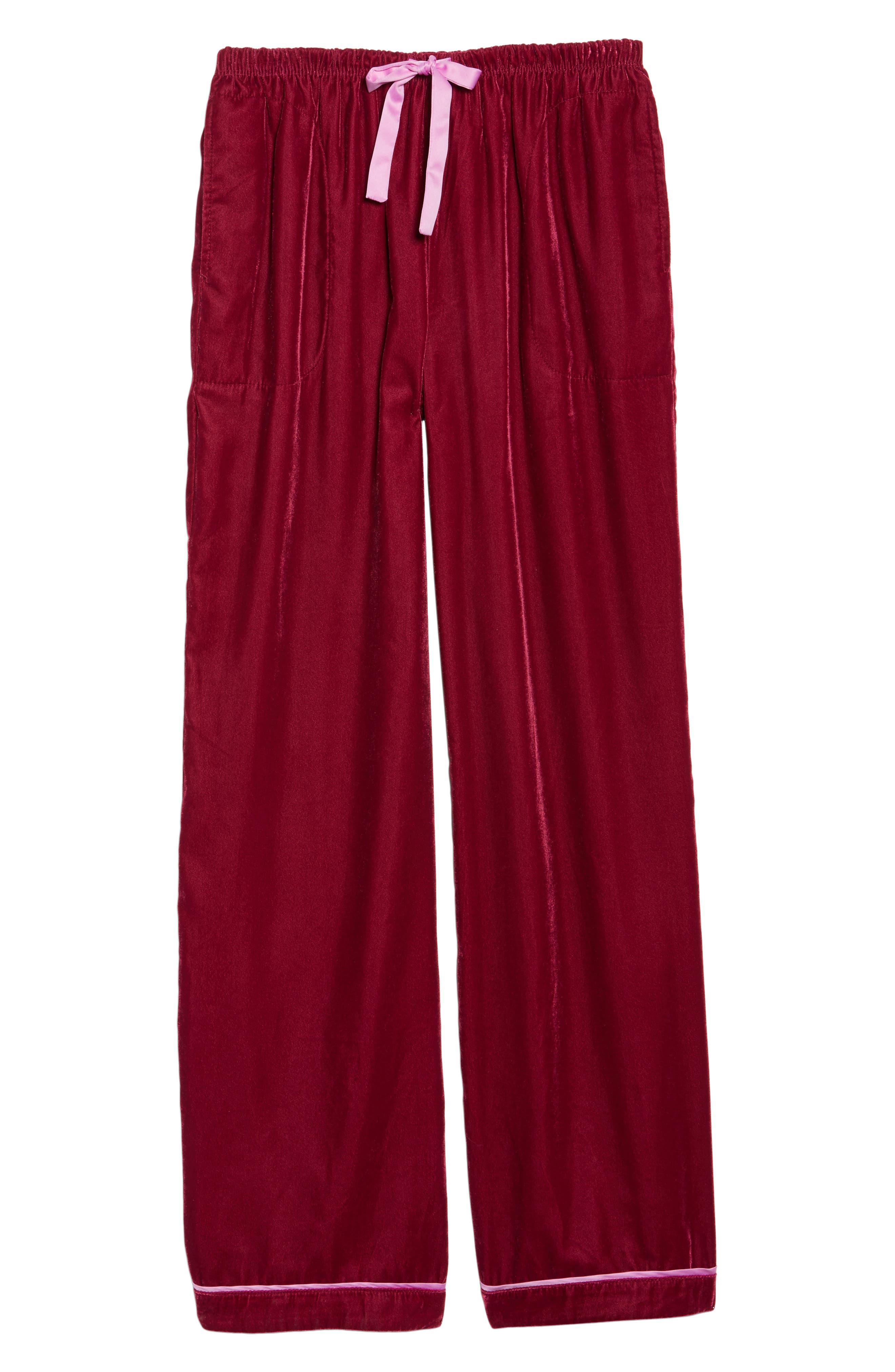 Velvet Pajama Pants,                             Alternate thumbnail 18, color,
