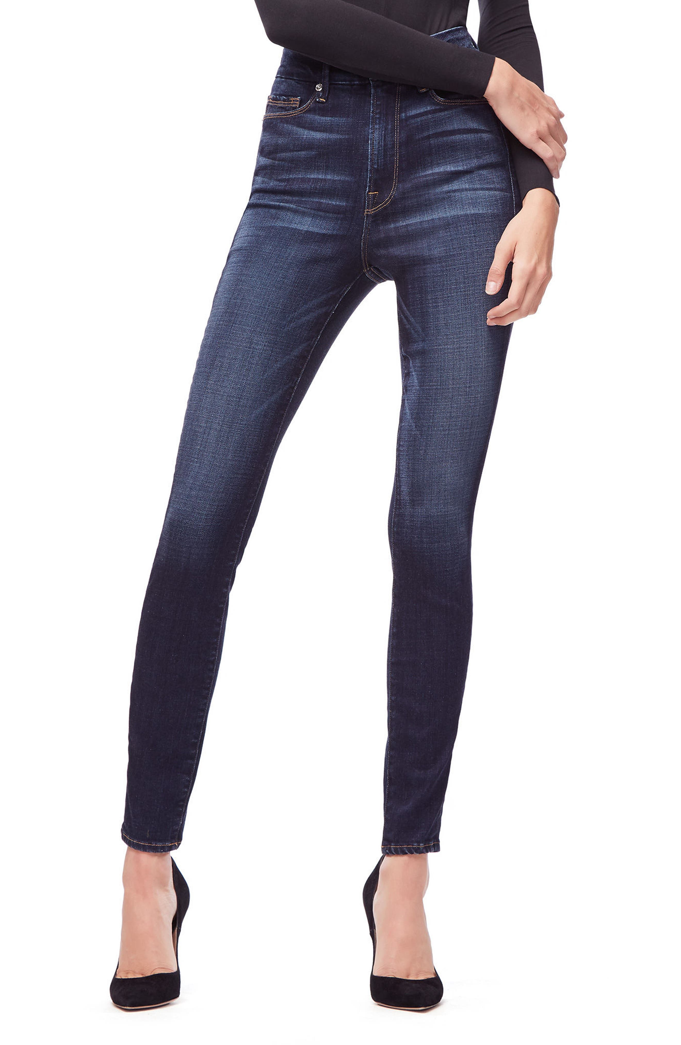 GOOD AMERICAN,                             Good Legs High Waist Skinny Jeans,                             Alternate thumbnail 5, color,                             401