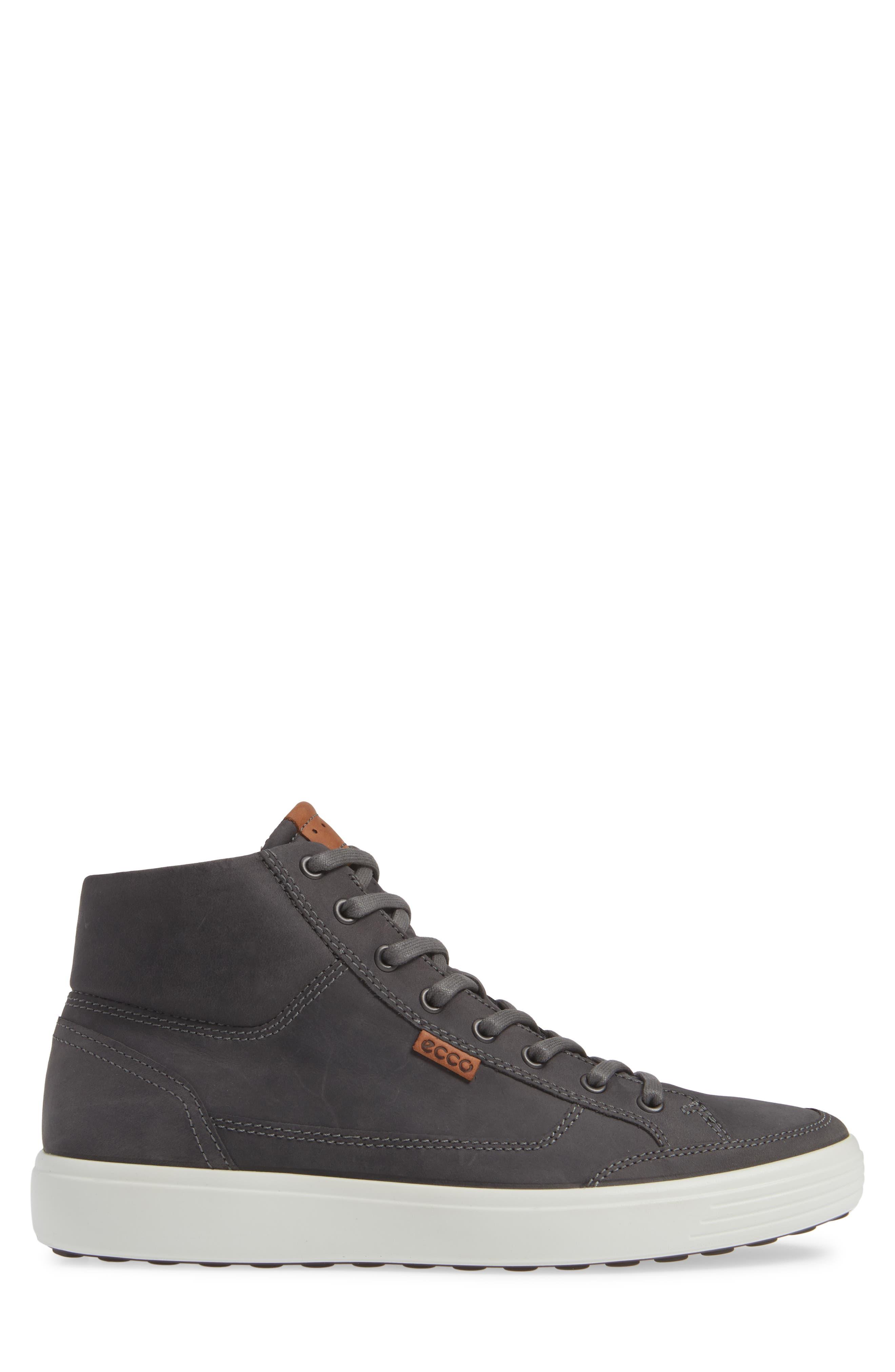 Soft 7 Sneaker,                             Alternate thumbnail 3, color,                             TITANIUM LEATHER