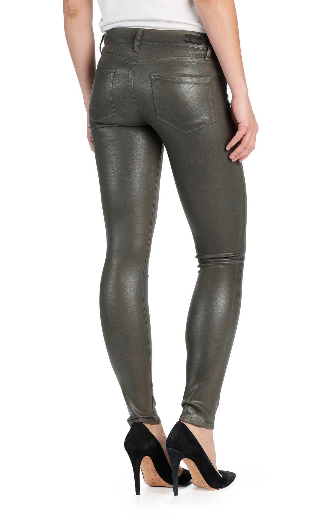 Transcend Verdugo Coated Ultra Skinny Jeans,                             Alternate thumbnail 2, color,                             300