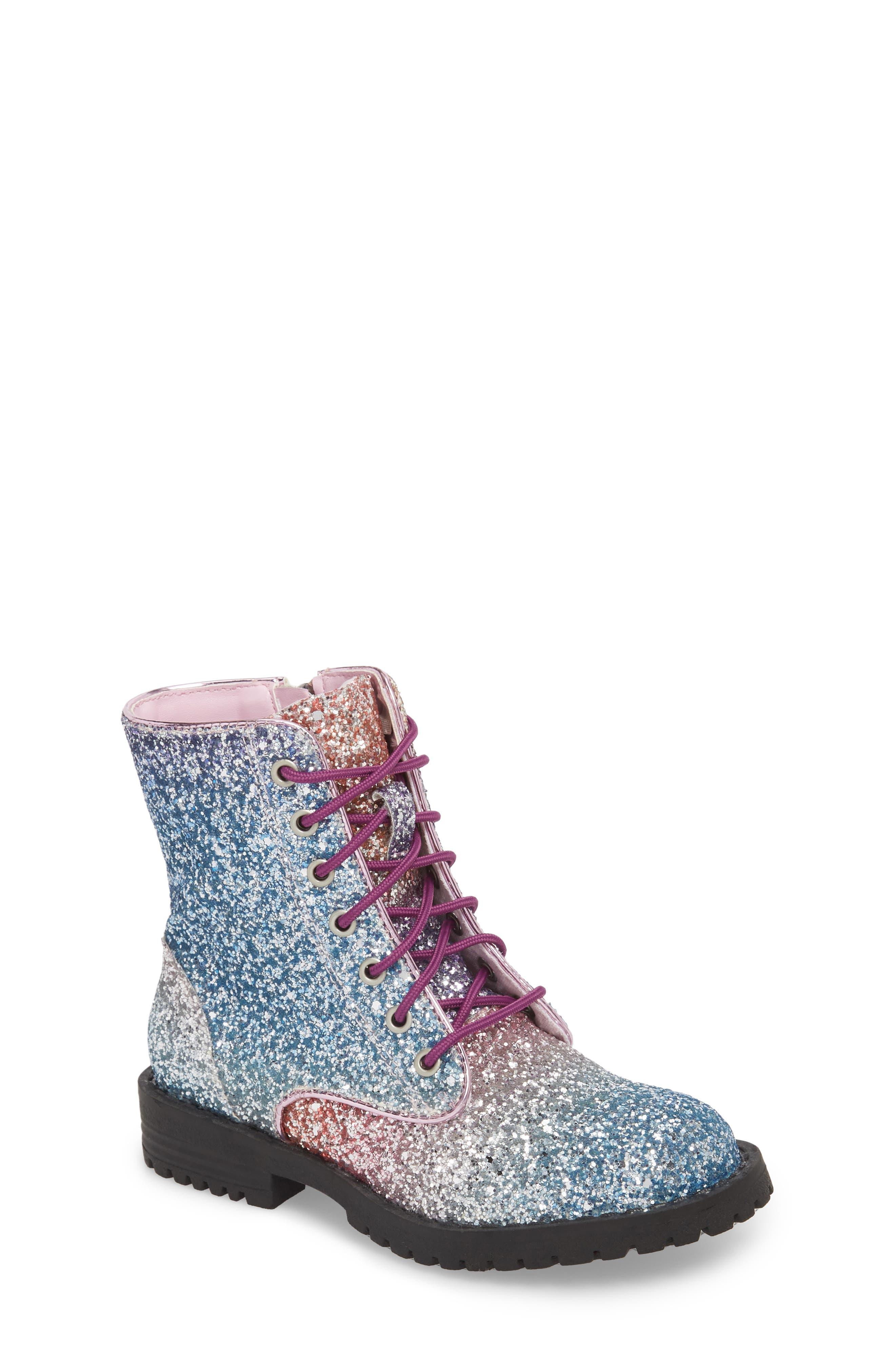 SAM EDELMAN Polly Sophia Glitter Combat Boot, Main, color, 506