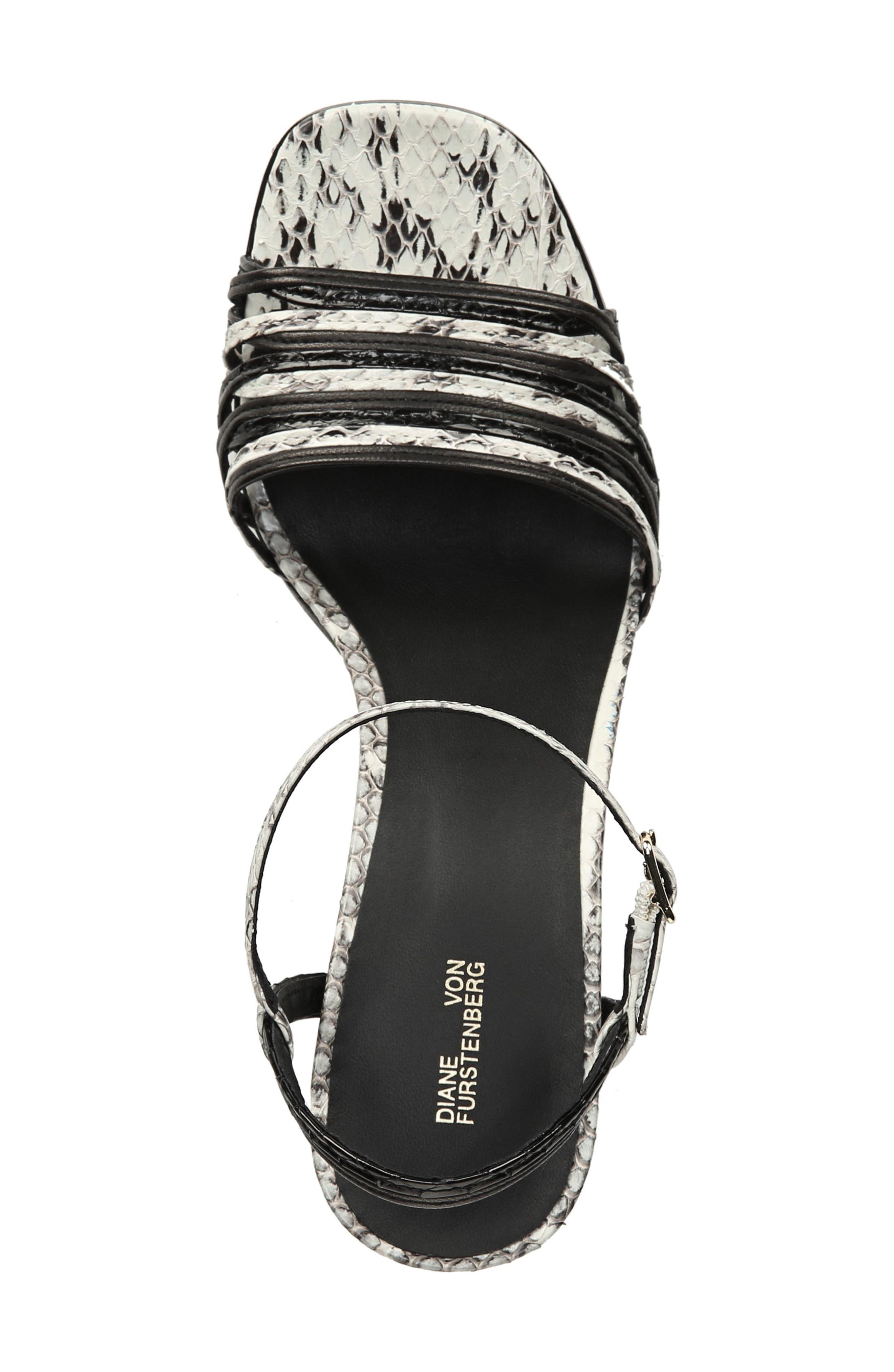 Federica Sandal,                             Alternate thumbnail 5, color,                             BLACK/ SILVER