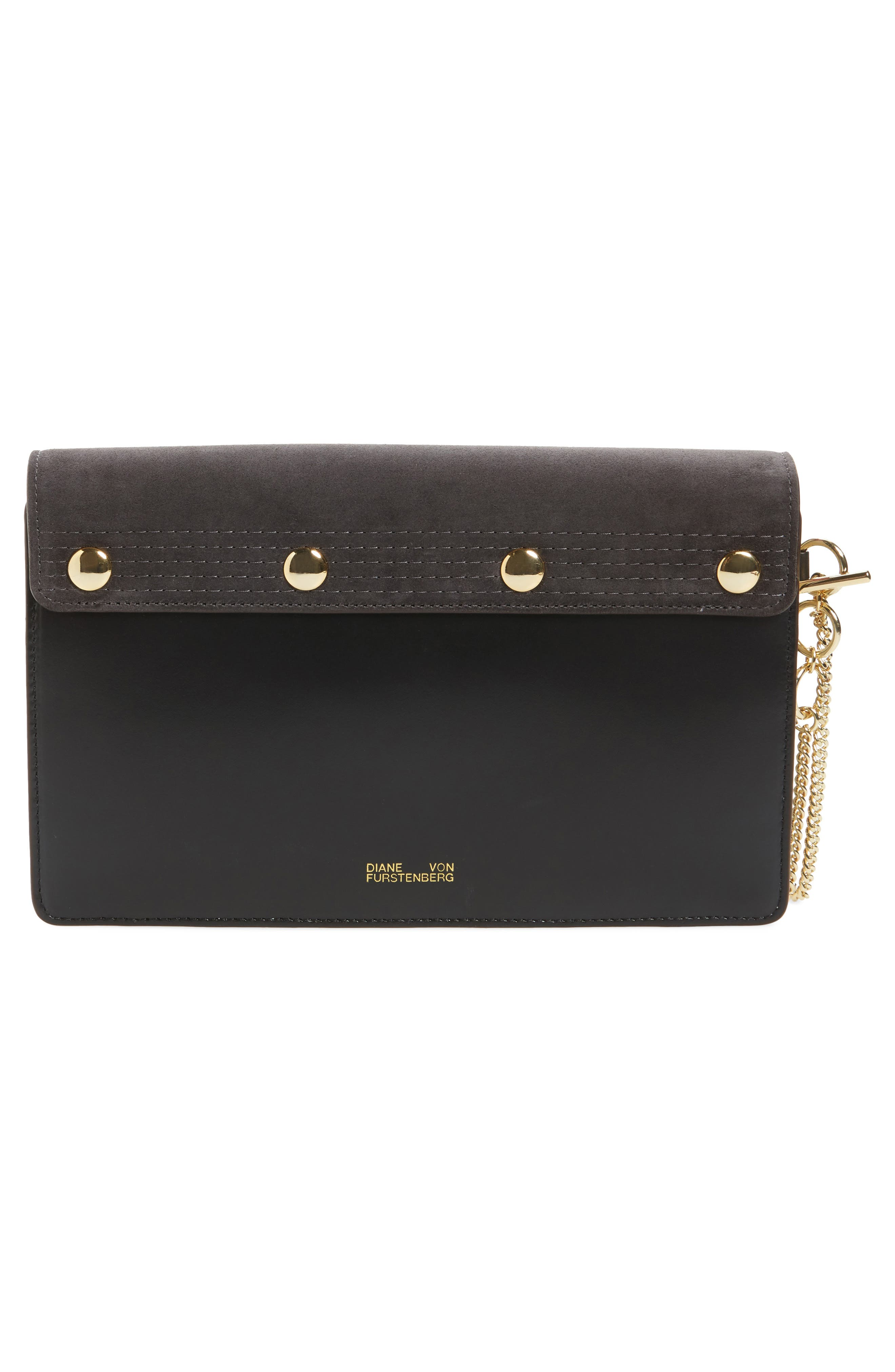 Convertible Leather Saddle Clutch,                             Alternate thumbnail 3, color,                             020