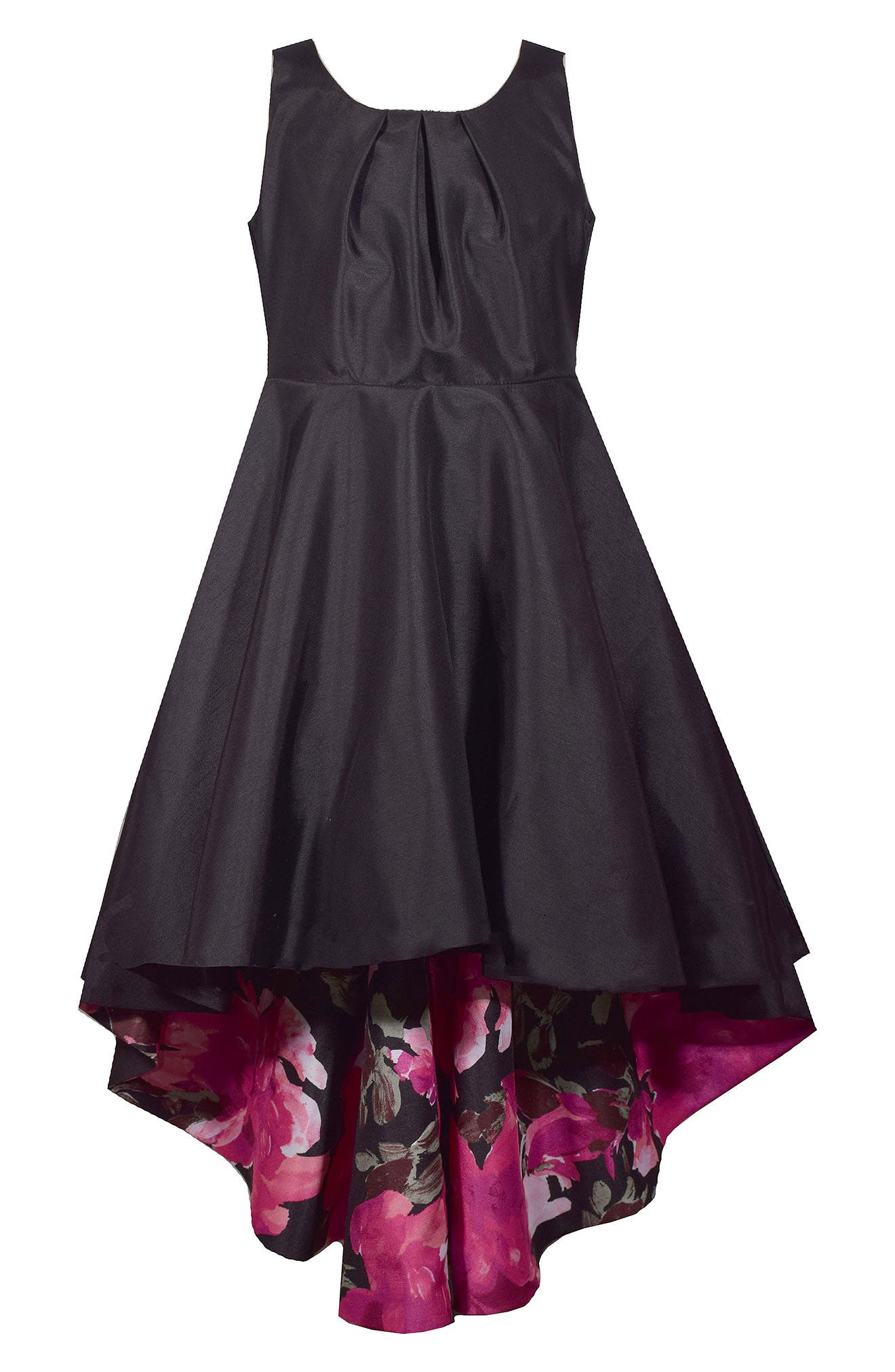 Girls Iris  Ivy Floral Lined Highlow Dress Size 16  Black