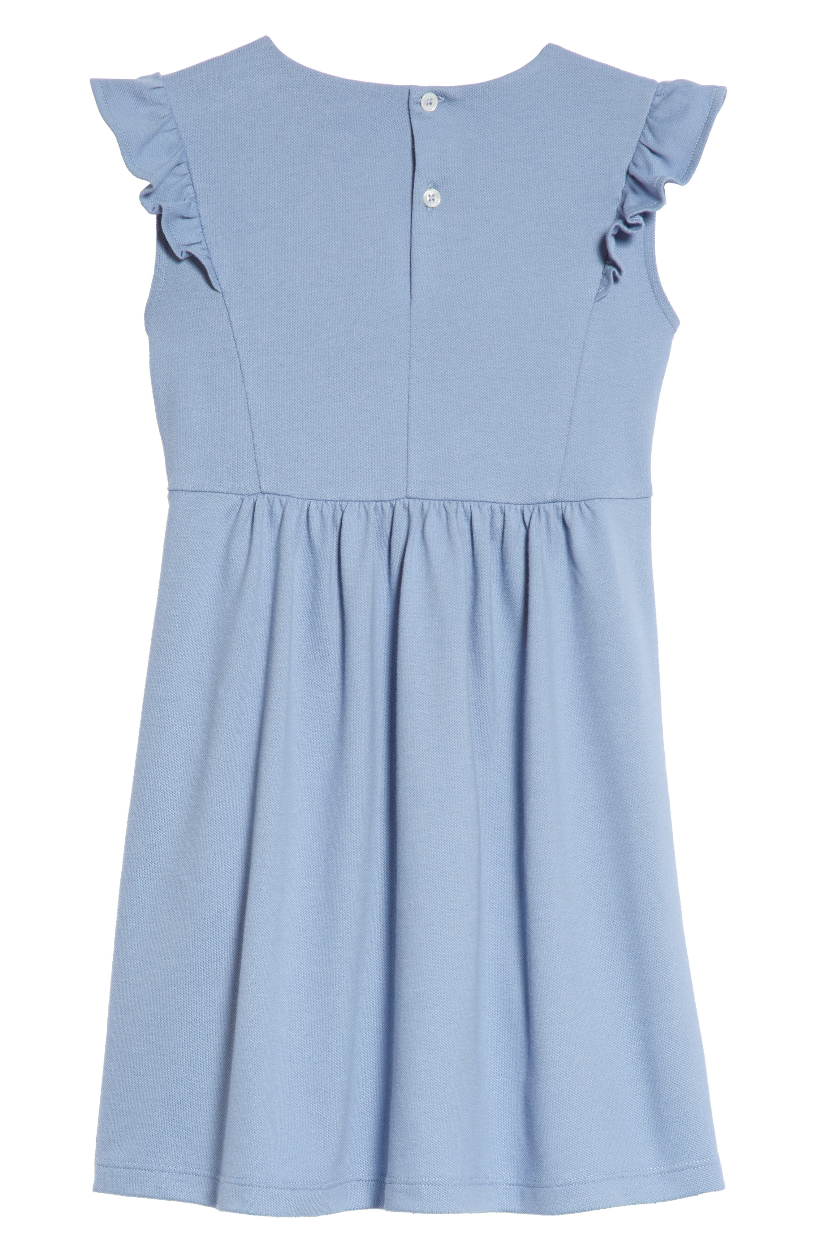 Piqué Dress,                             Alternate thumbnail 2, color,                             INK/ WHITE