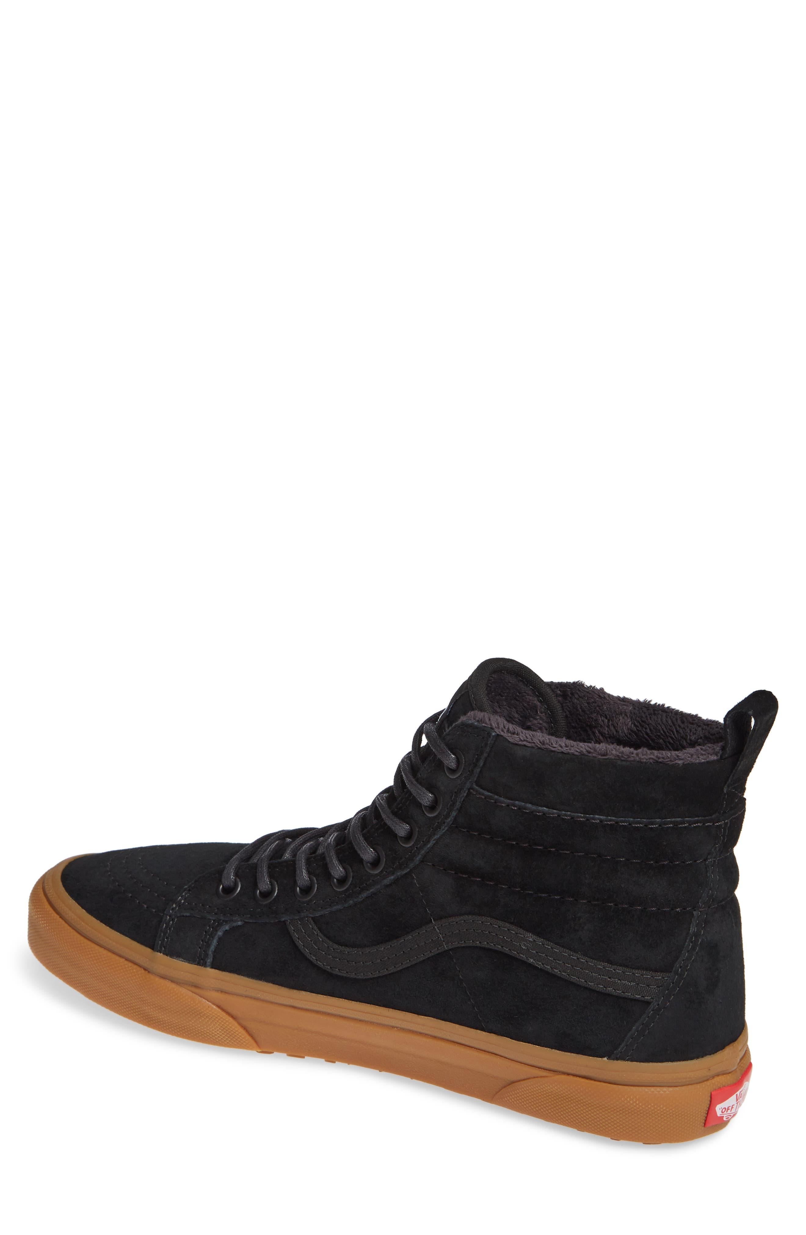 'Sk8-Hi MTE' Sneaker,                             Alternate thumbnail 2, color,                             BLACK/ GUM