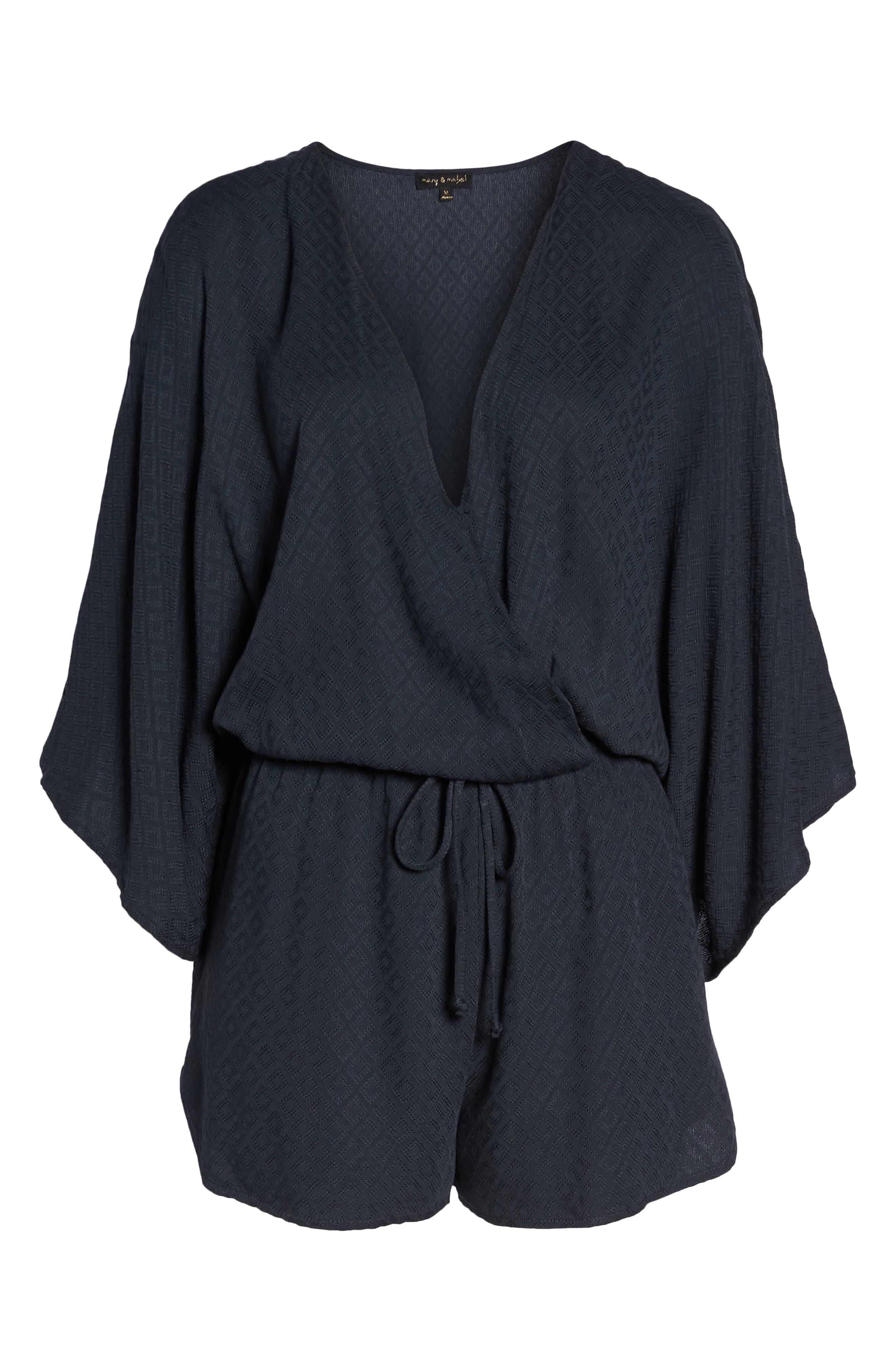 Kimono Sleeve Romper,                             Alternate thumbnail 7, color,                             419
