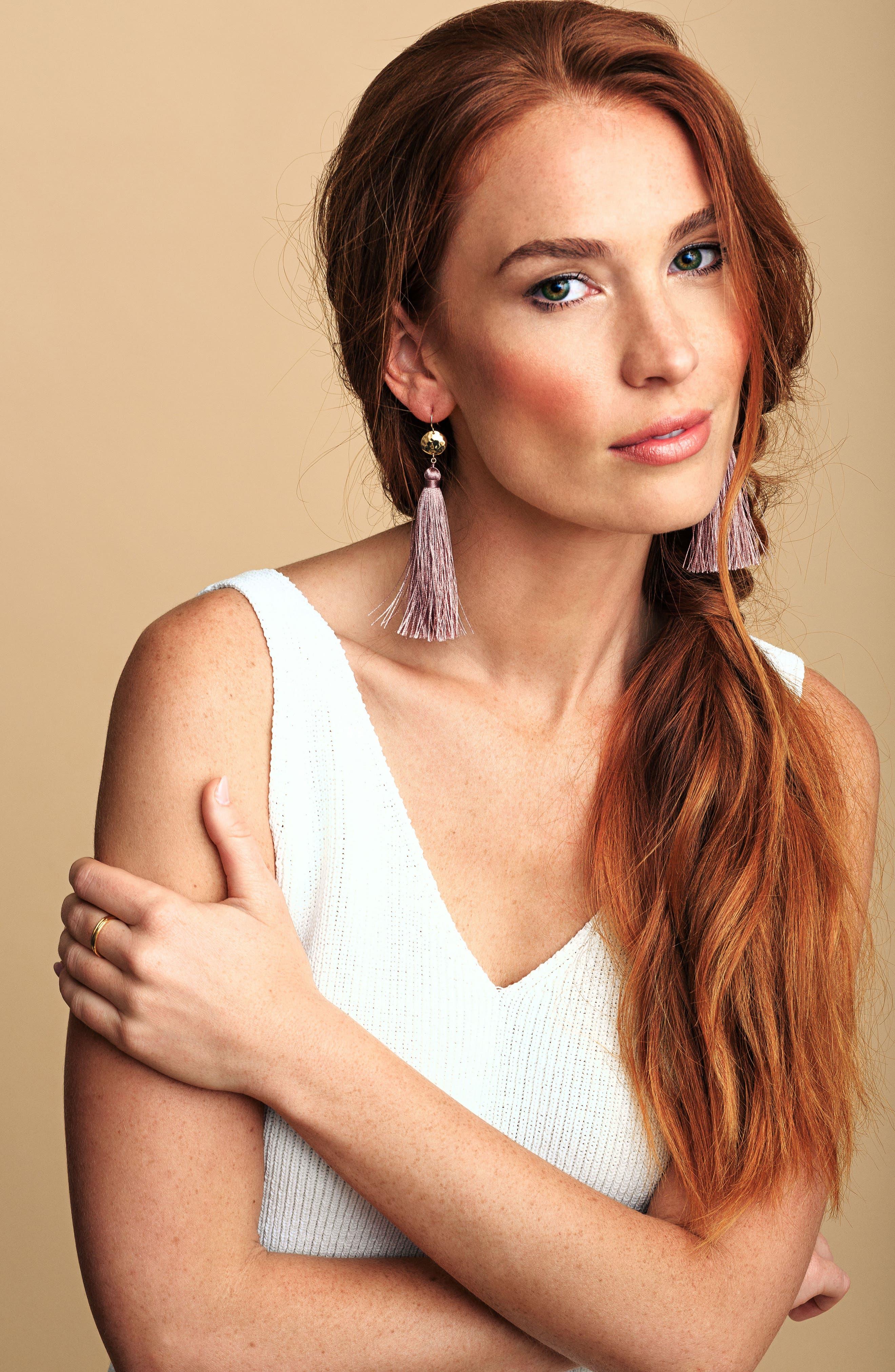 Leucadia Tassel Drop Earrings,                             Alternate thumbnail 6, color,                             005
