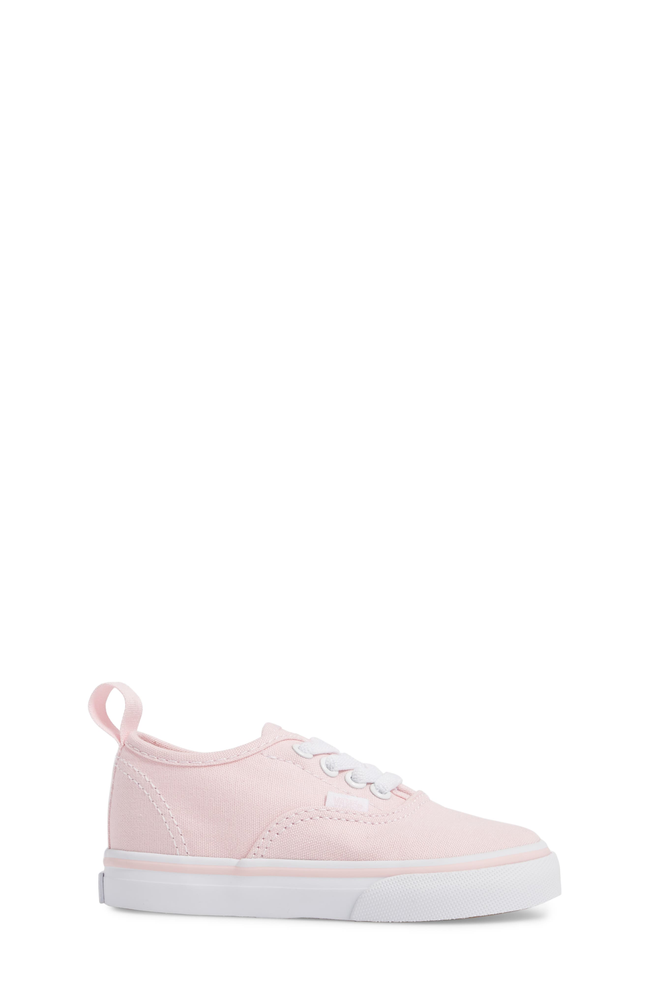 Authentic Elastic Lace Sneaker,                             Alternate thumbnail 3, color,                             CHALK PINK/ TRUE WHITE