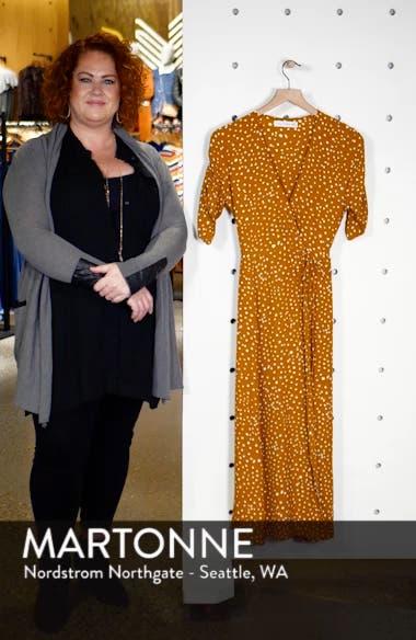 Chiara Dot Print Wrap Dress, sales video thumbnail
